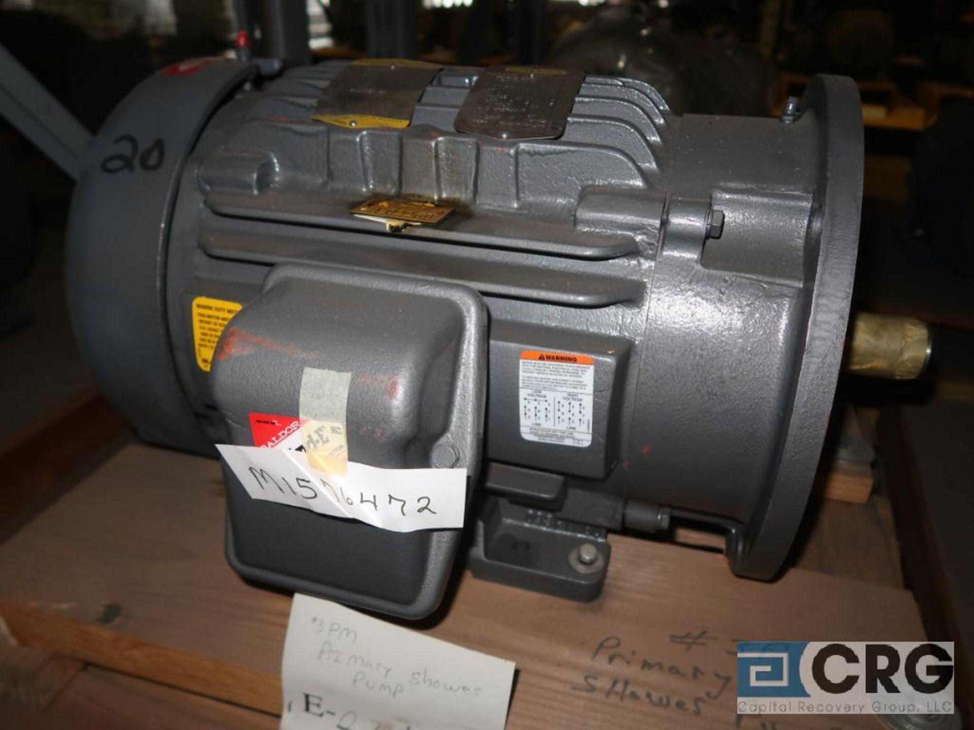 Lot of (4) assorted 20 HP motors (Motor Building) - Image 3 of 4