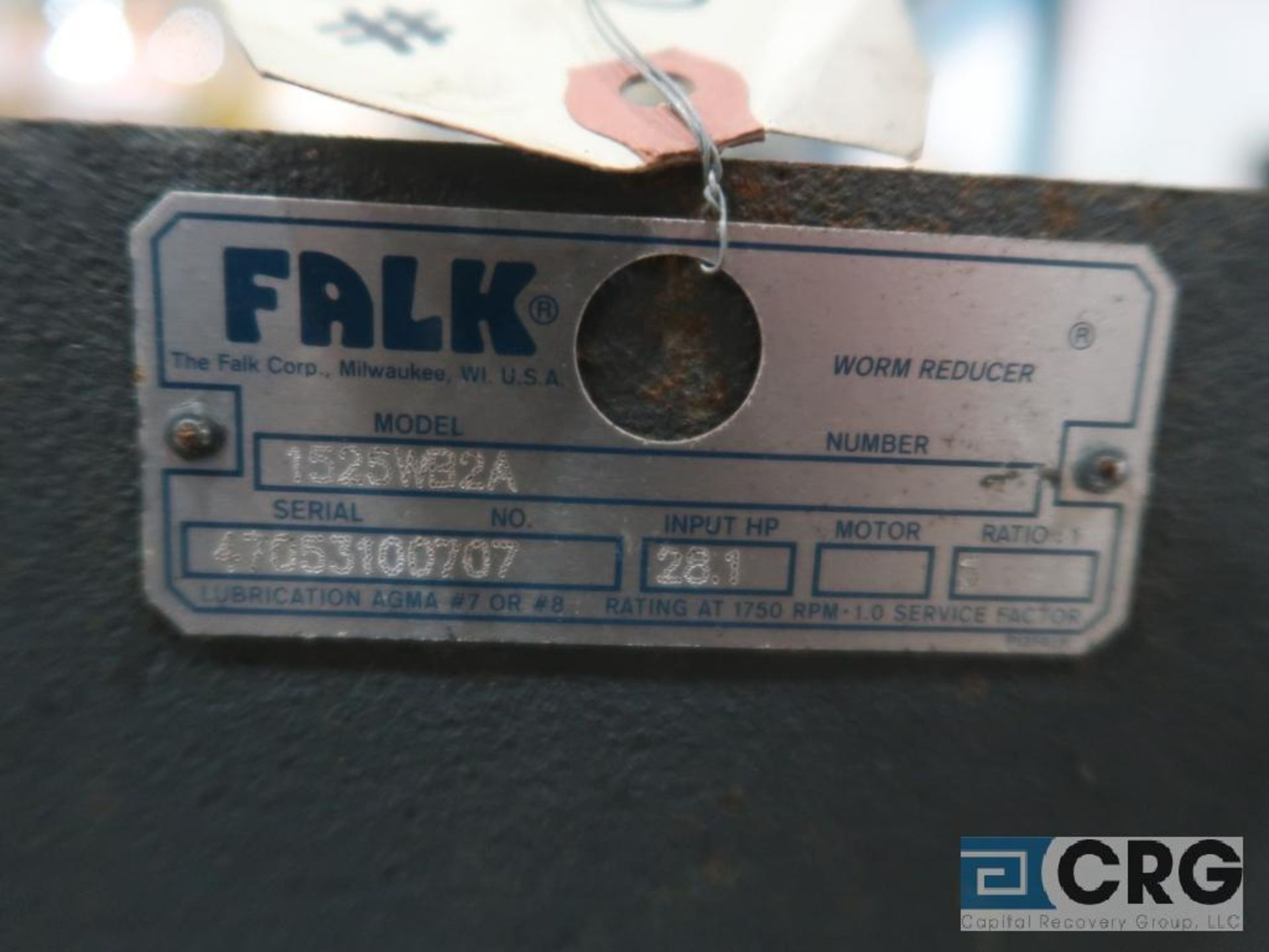 Falk 1525 WB2A gear drive, ratio 5-1, s/n 100707 (Finish Building) - Image 2 of 2