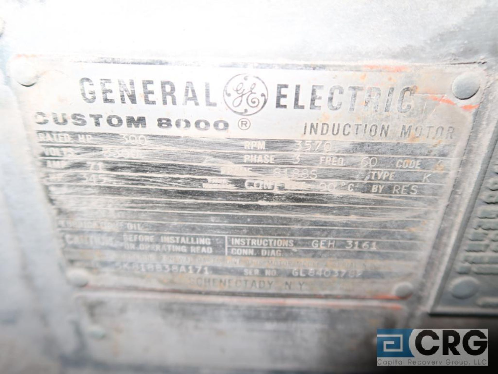 GE motor, 300 HP, 3,570 RPM, 2,300 volts, 8188S frame, equipment #MS531 (496 Dock Area) - Image 3 of 3