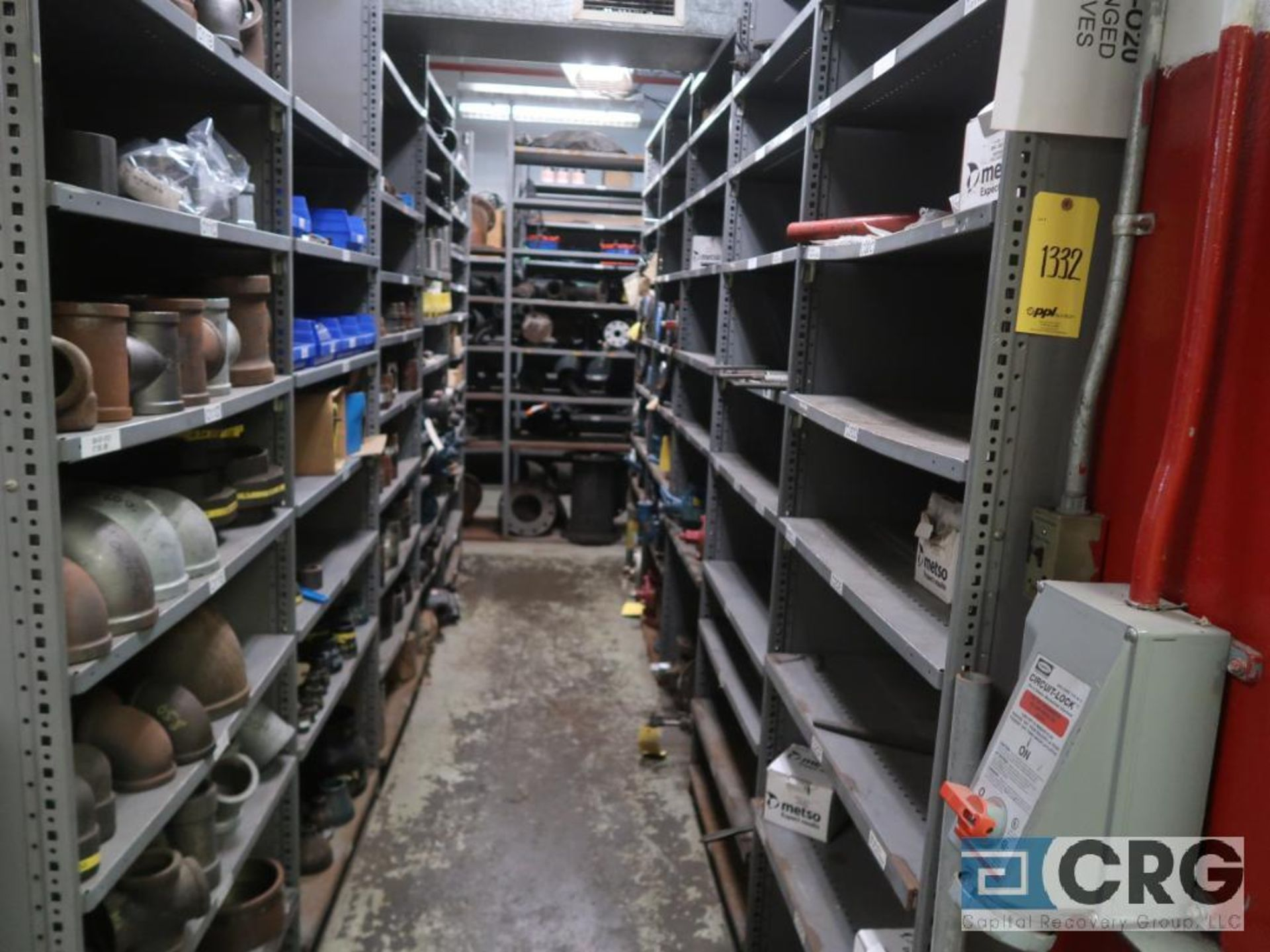 Lot of (135) sections metal shelving (Back of Stores Area) - Image 2 of 6