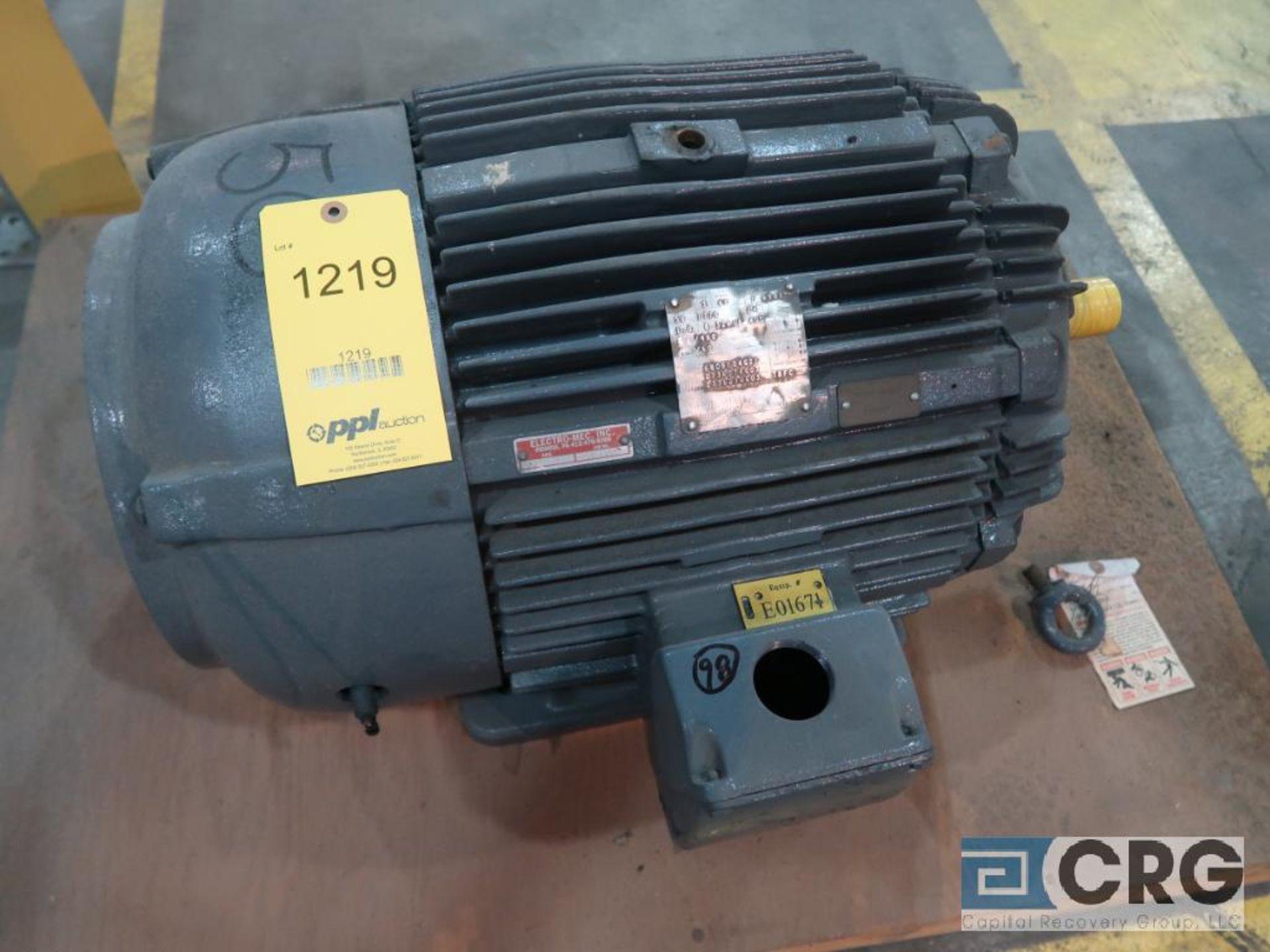 Westinghouse Life-Line T AC motor, 50 HP, 1,770 RPMs, 460 volt, 3 ph., 326TS frame (Finish