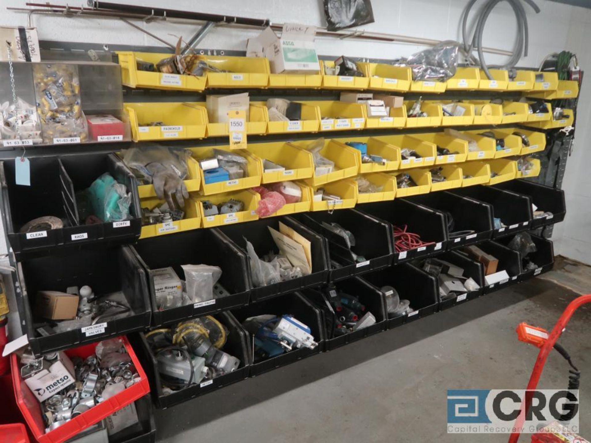 Lot of miscellaneous items including connectors, mounting brackets, regulators, thermometers,