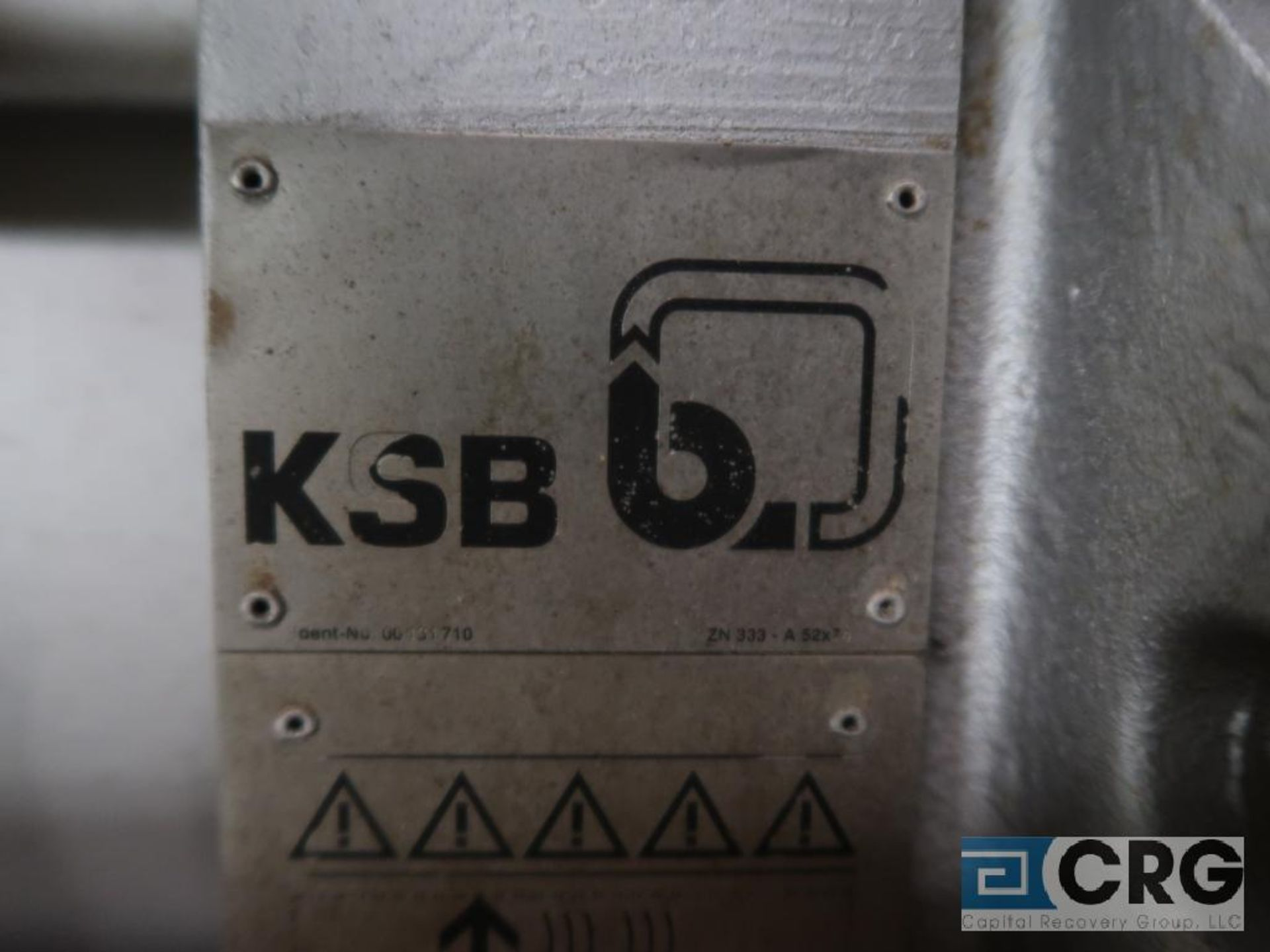 KSB H3M 3/5 feed water pump, 360 GPM (Basement Stores) - Image 2 of 5