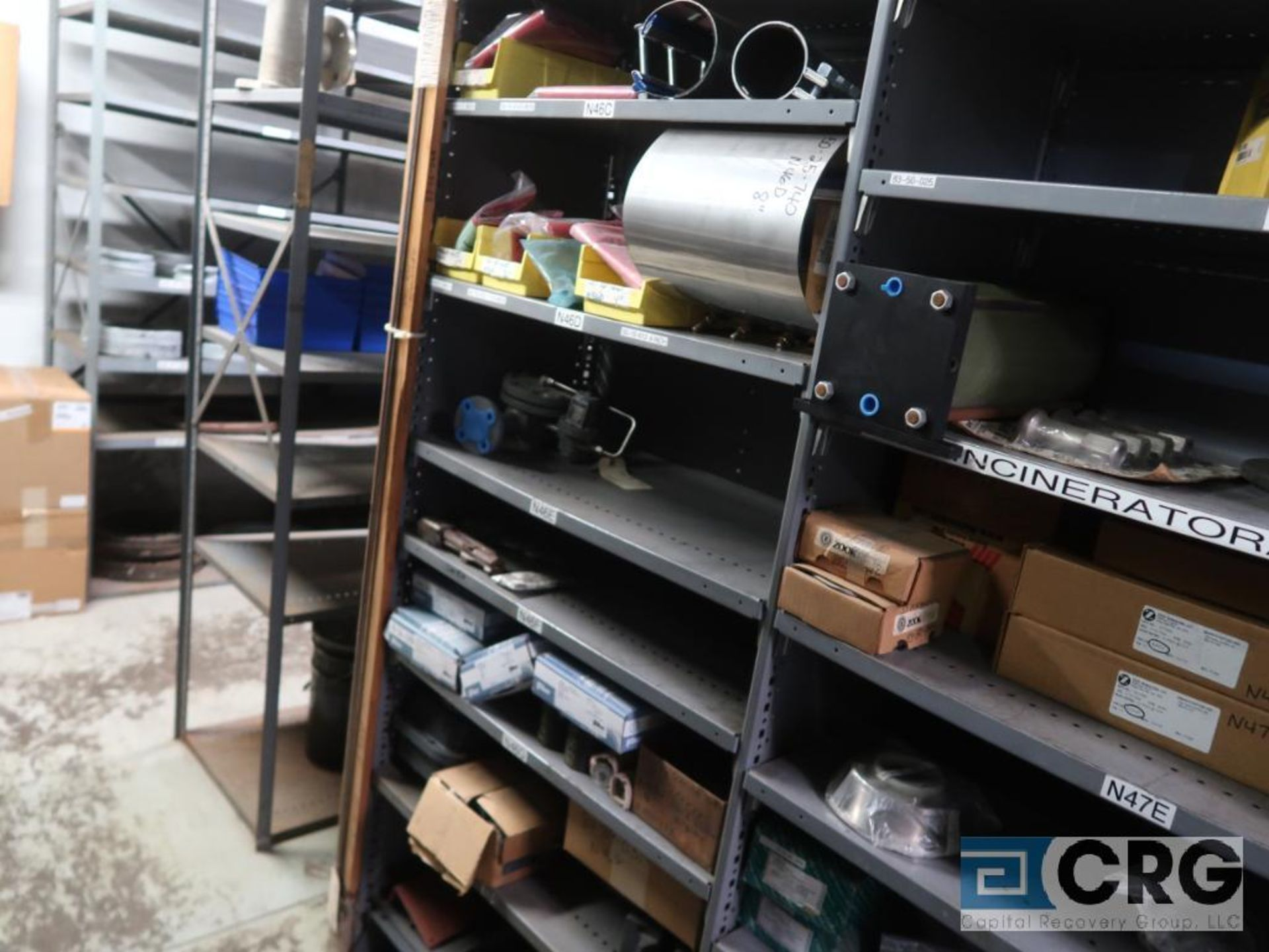 Lot of (35) sections with assorted parts including gaskets, fittings, shaft pins, gears, and - Image 5 of 17