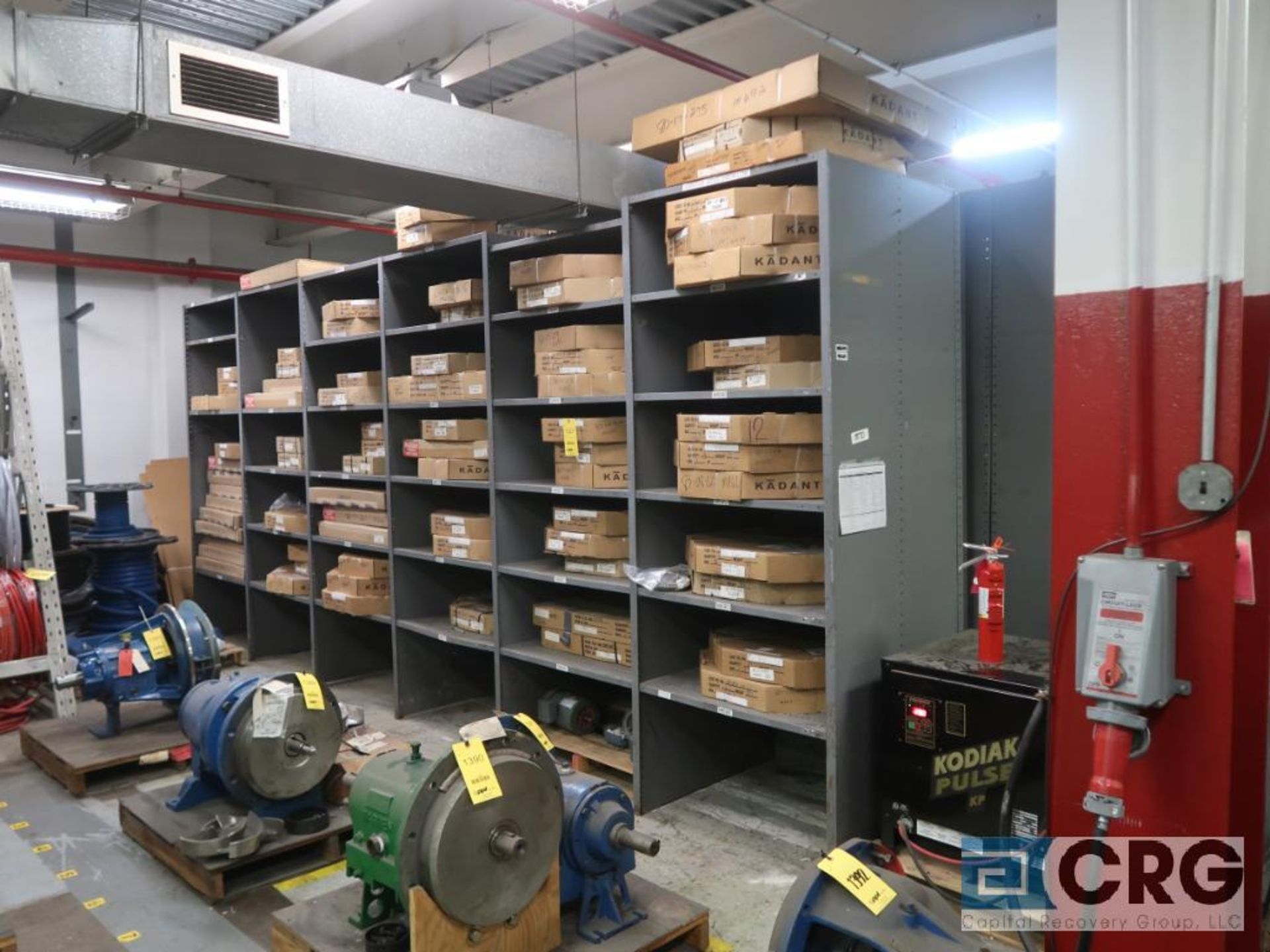 Lot of (135) sections metal shelving (Back of Stores Area) - Image 6 of 6
