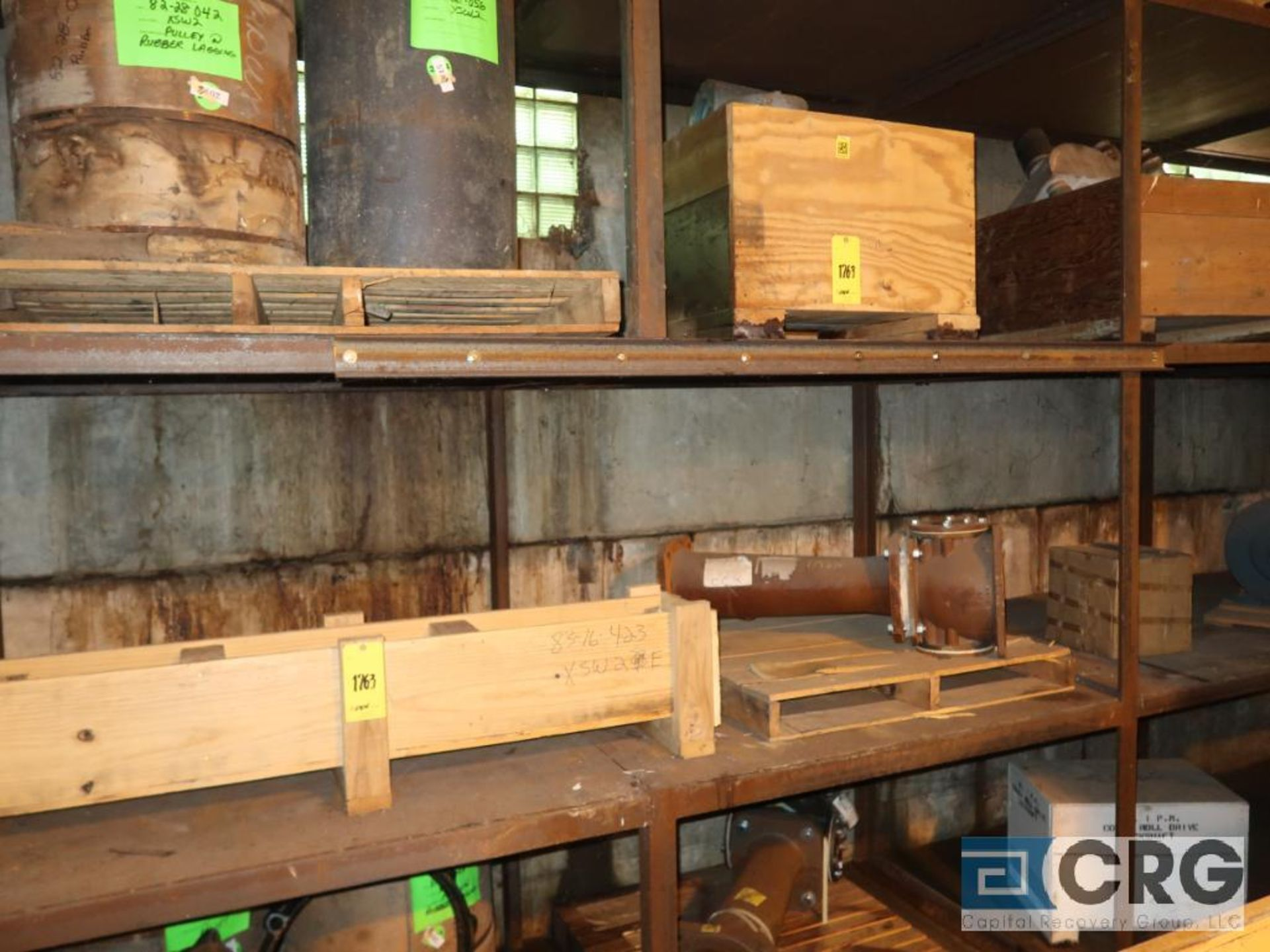 Lot of assorted parts including expansion joint, valves, fan blade, and rotors (Next Bay Cage Area) - Image 13 of 15