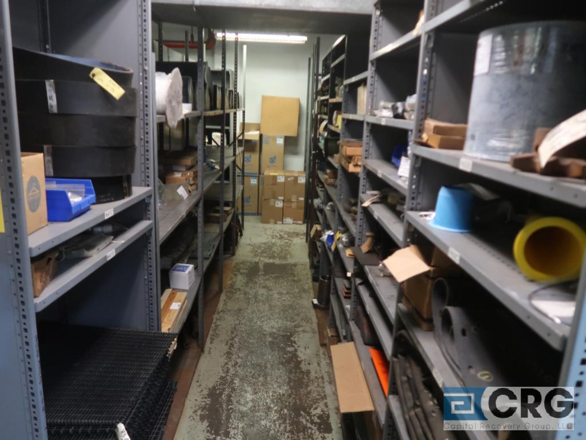 Lot of (35) sections with assorted parts including gaskets, fittings, shaft pins, gears, and