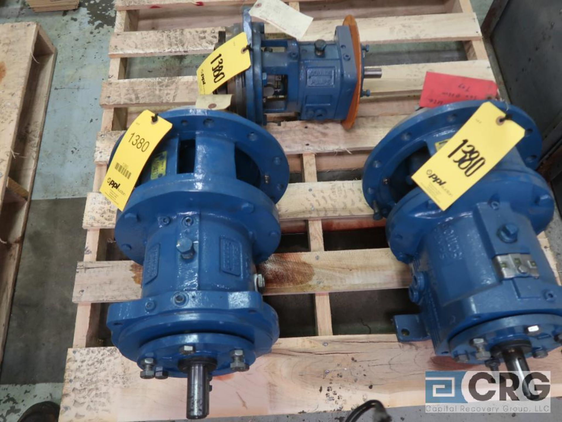 Lot of (3) Goulds 3196 pumps, (1) STX 8 in., (1) MTI 10 in., and (1) MTX 10 in. (Basement Stores)
