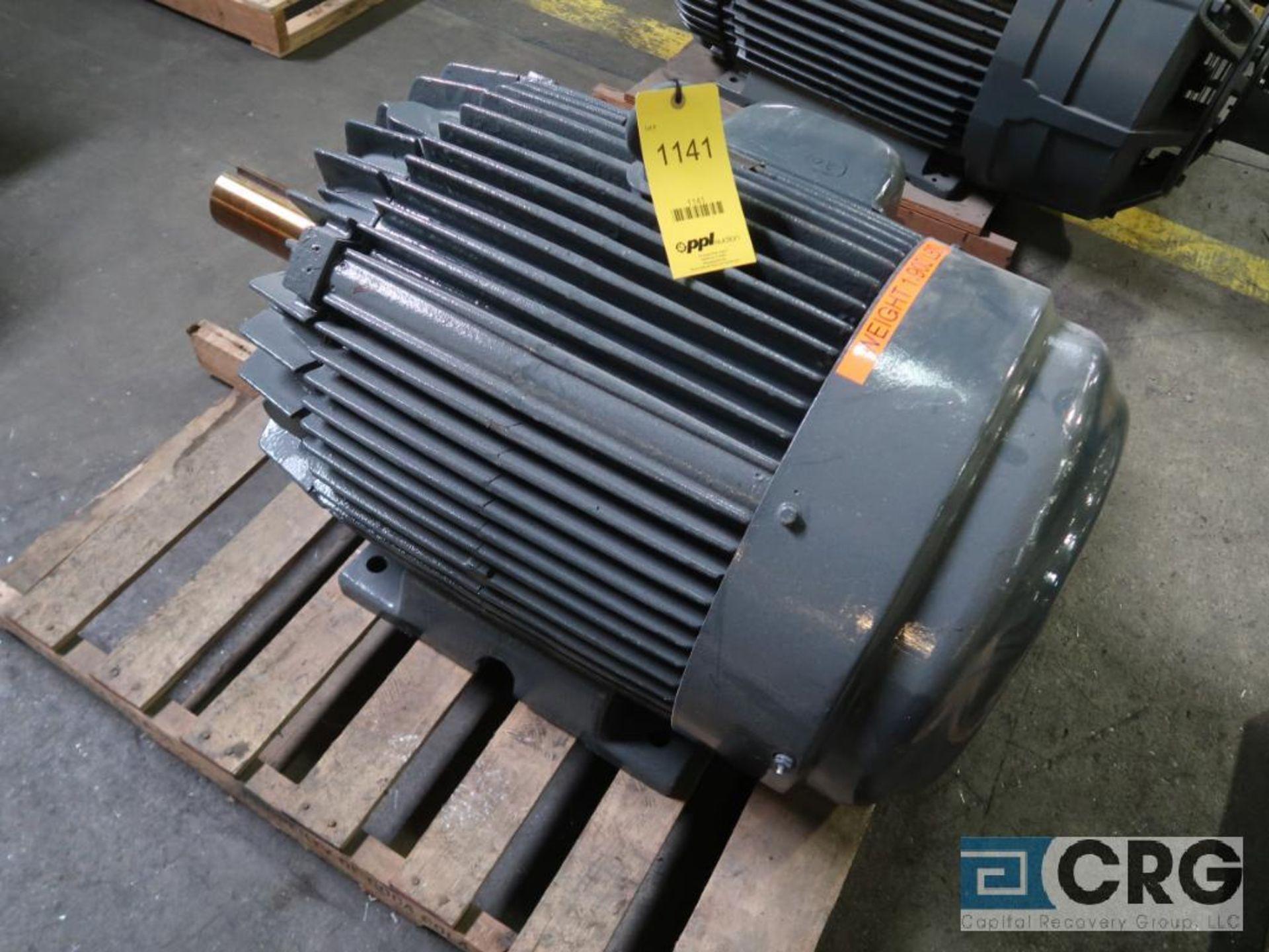 Louis-Allis electric DC motor, 150 HP, 1,185 RPMs, 460 volt, 3 ph., 445T frame (Finish Building)