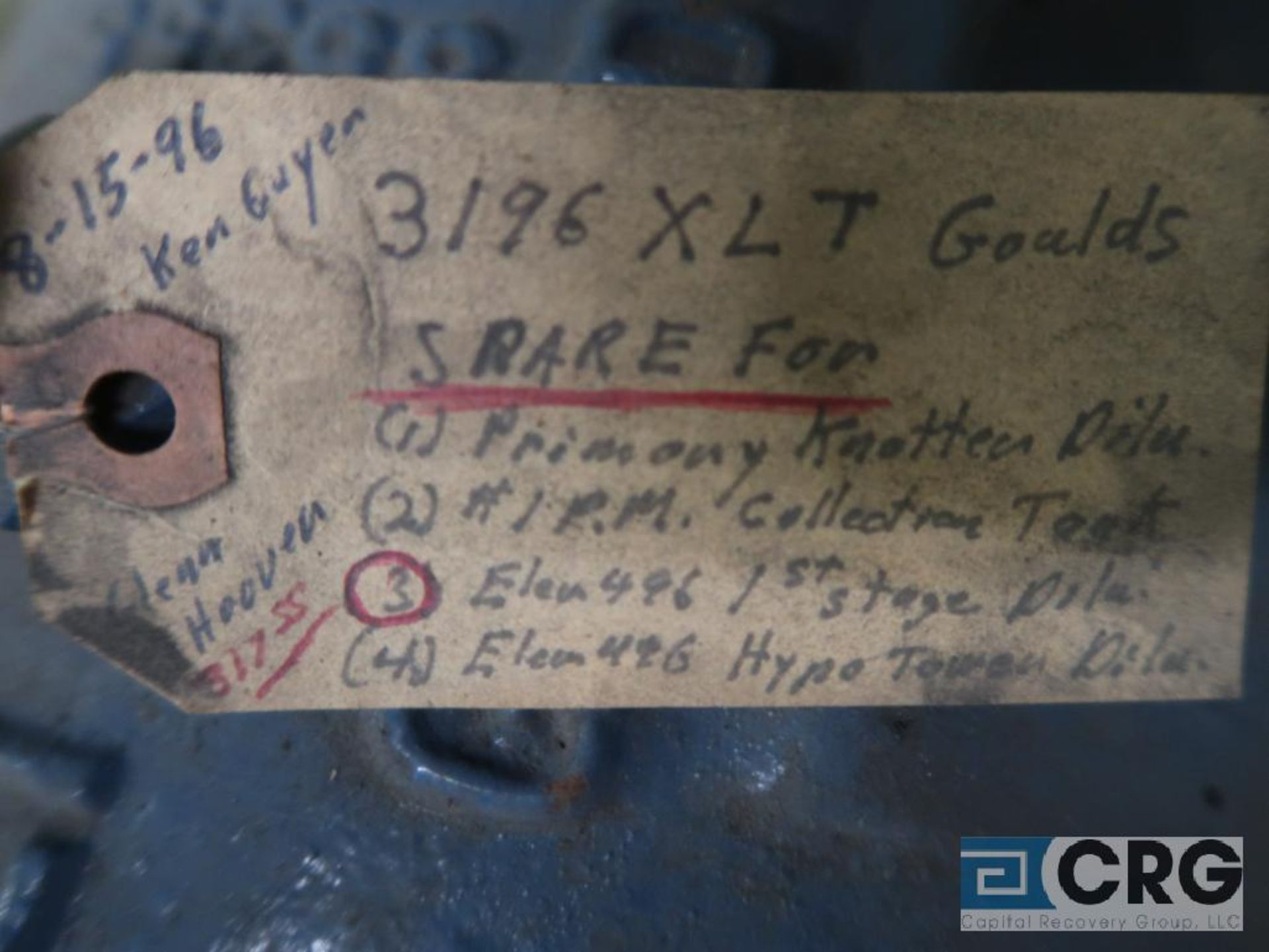 Goulds 3196 XLT 13 in. pump (Basement Stores) - Image 3 of 3