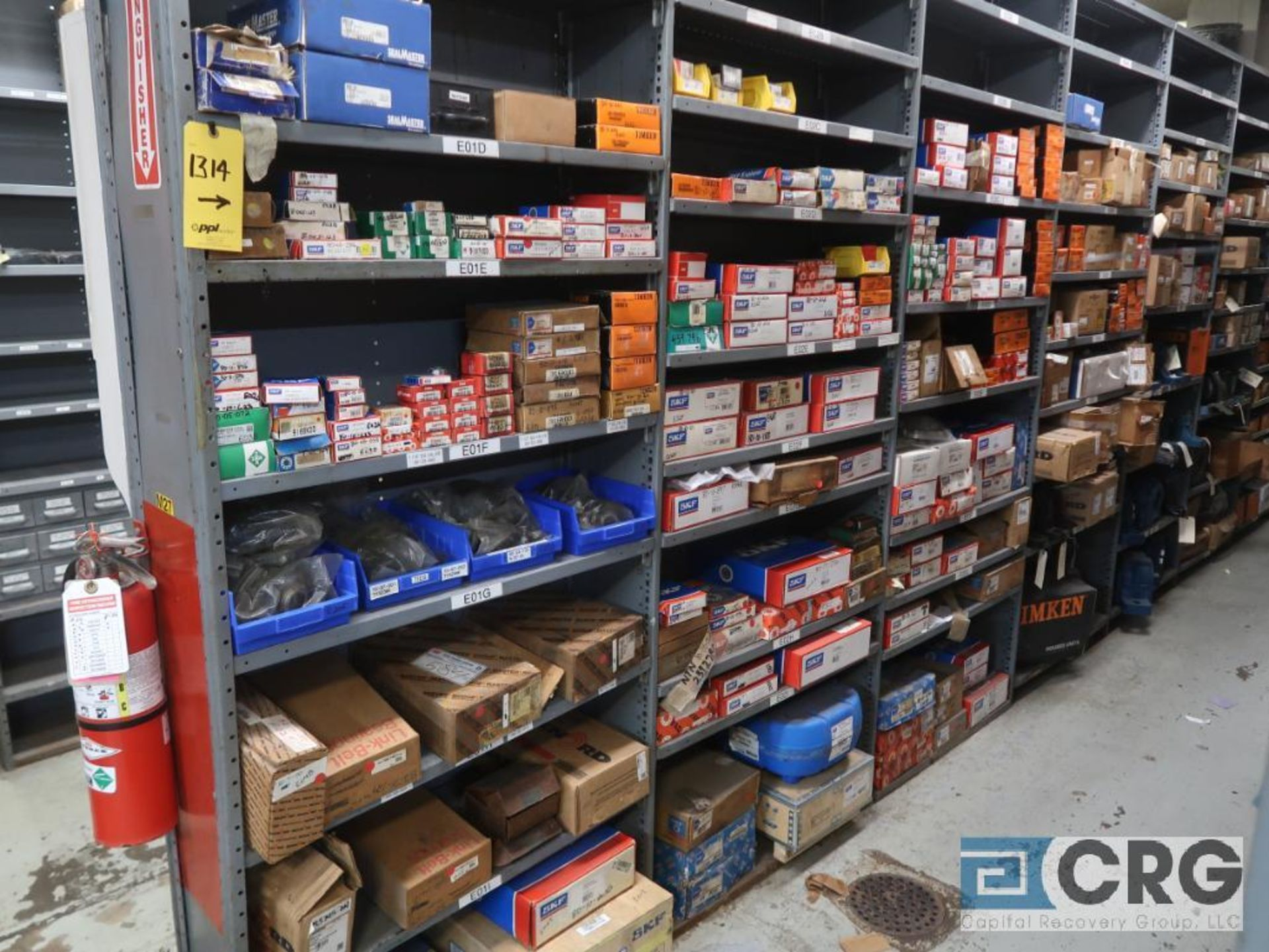 Lot of assorted bearings on (18) sections of metal shelving (located in Basement Store) - Image 13 of 17