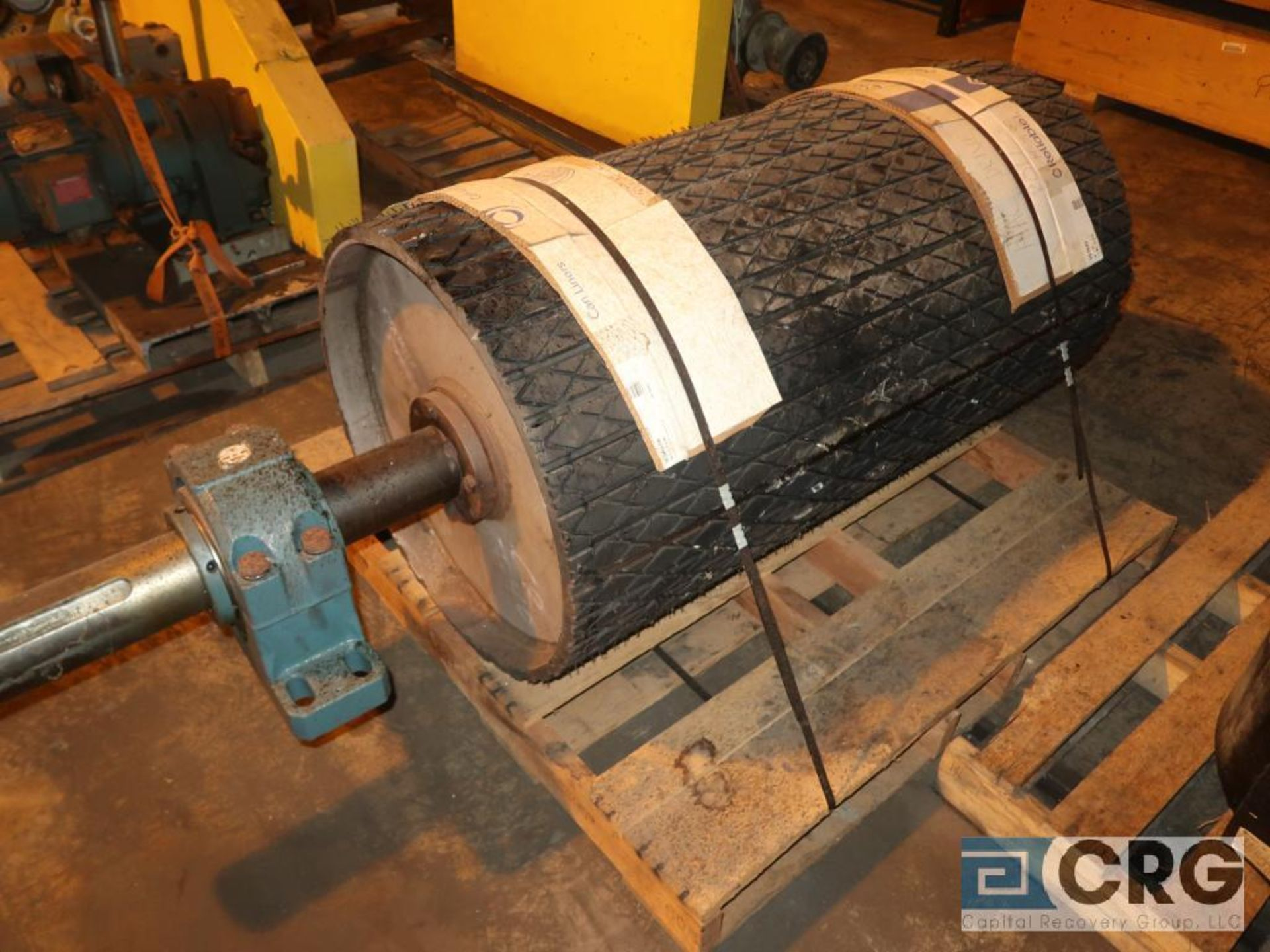 Lot of conveyor parts including belting, pulleys, and rollers (Next Bay Cage Area) - Image 5 of 5