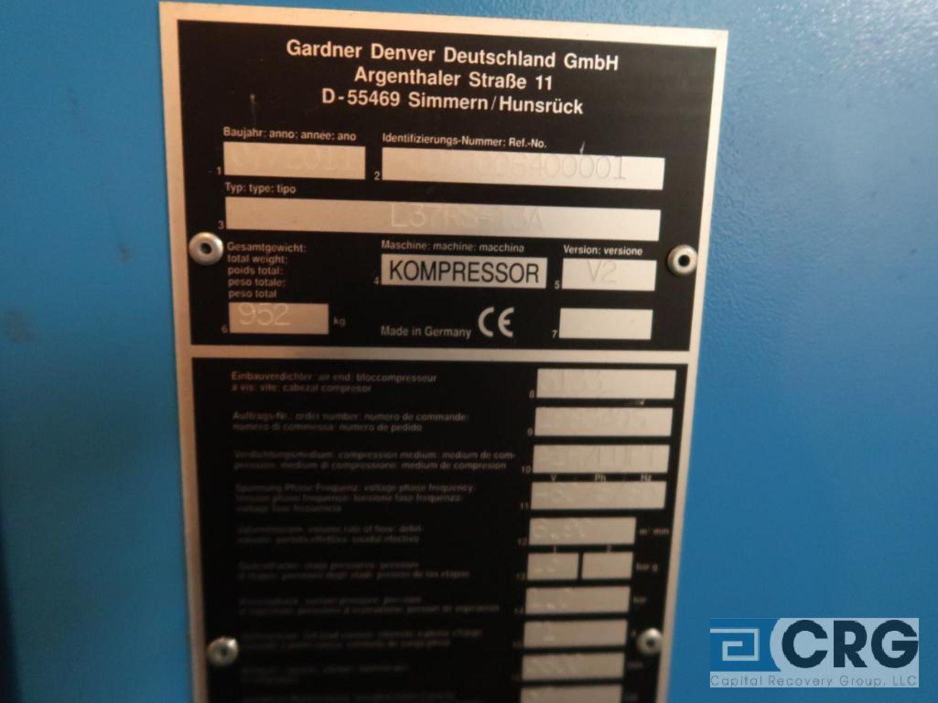 Gardner Denver L37RS DELCOSXL air compressor, mfg. 2011, s/n 6400001 (Off Site Warehouse) - Image 3 of 3
