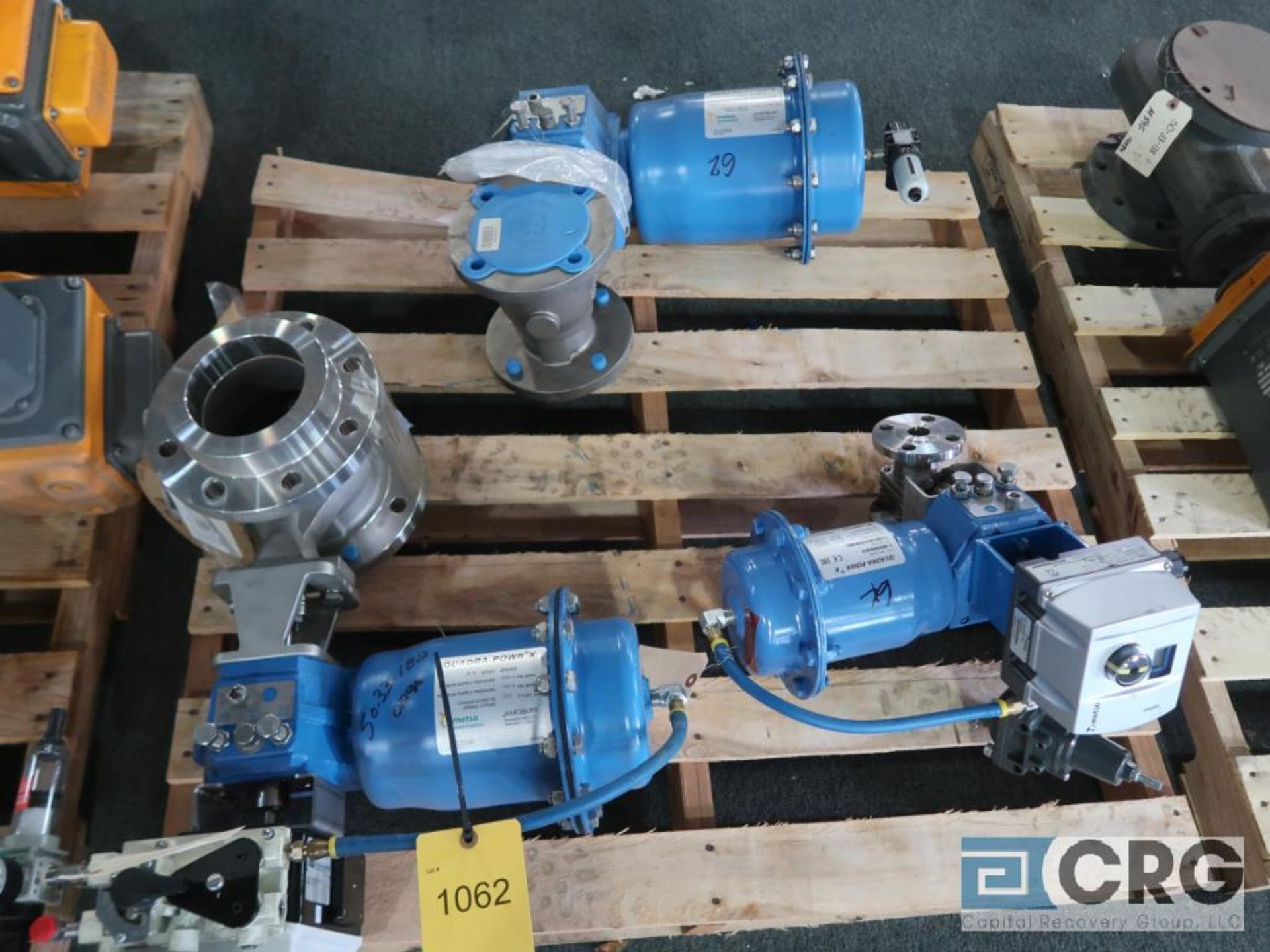 Lot of (3) Metso stainless actuator valves, (1) 3 in., (1) 4 in., and (1) 1 in. (Finish Building)