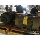 Lot of (5) assorted 20 HP motors on (2) shelves (Motor Building)