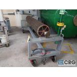 Lot of (2) steel 4-wheel dandy roll carts (Dandy Room)
