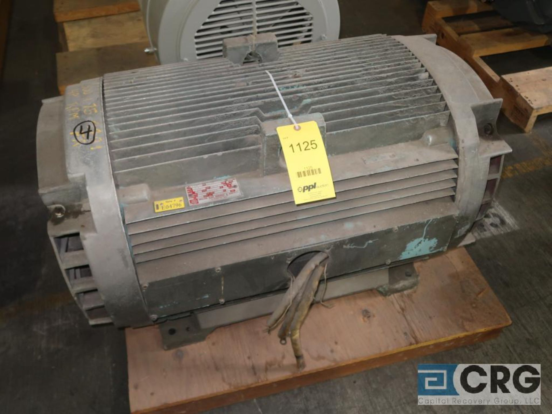 General Electric electric motor, 300 HP, 1,775 RPMs, 2,300 volt, 3 ph., 4491 frame (Finish