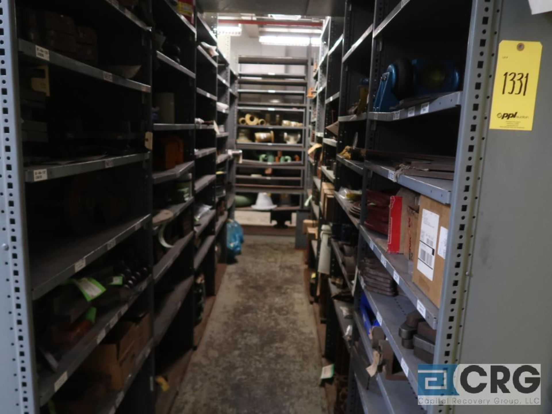 Lot of (135) sections metal shelving (Back of Stores Area) - Image 3 of 6