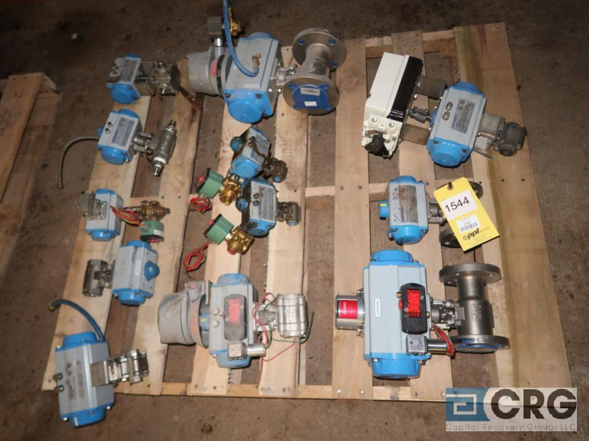 Lot of (12) actuators and valves, assorted types and sizes (496 Dock Area)