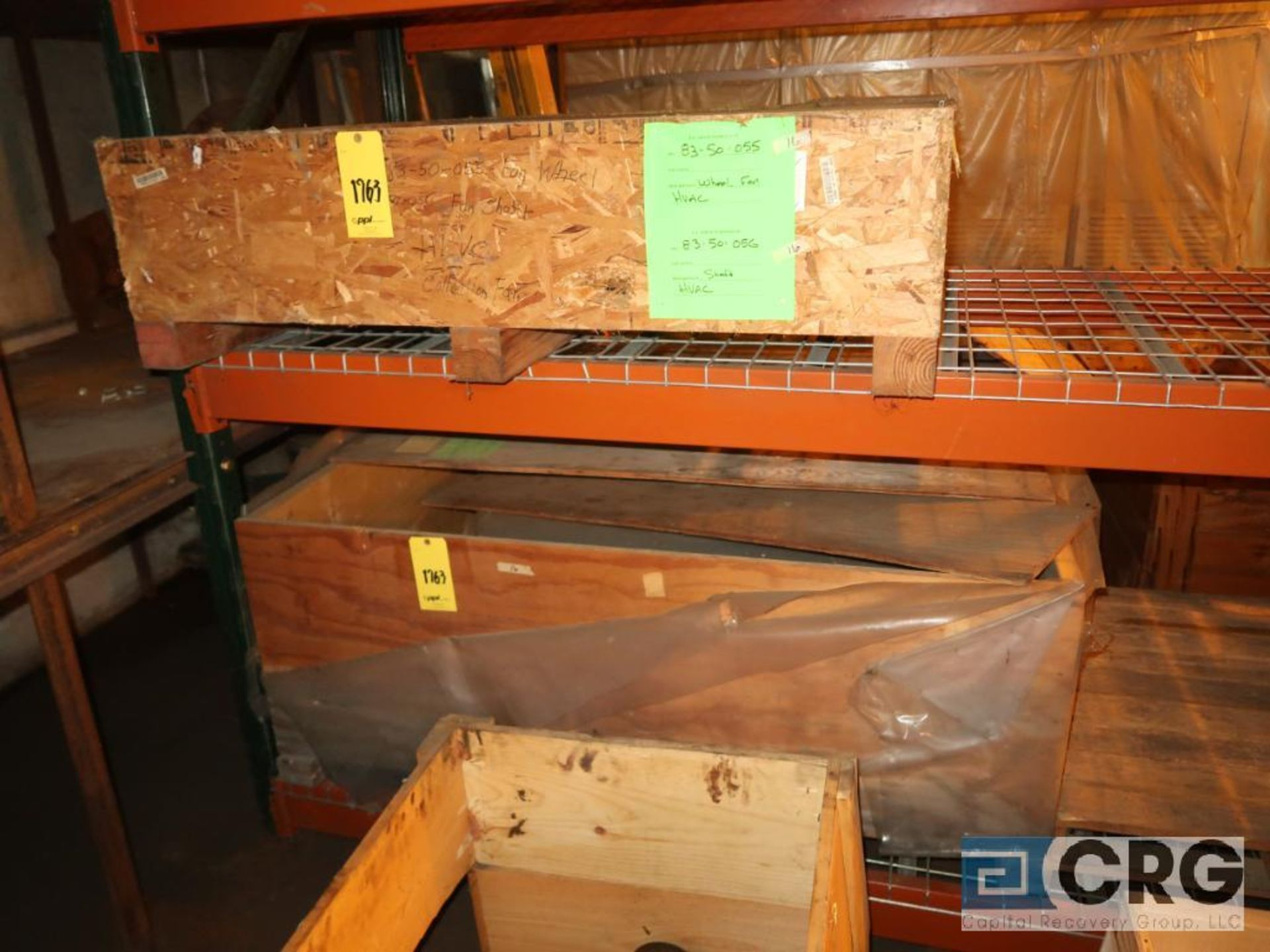 Lot of assorted parts including expansion joint, valves, fan blade, and rotors (Next Bay Cage Area) - Image 3 of 15