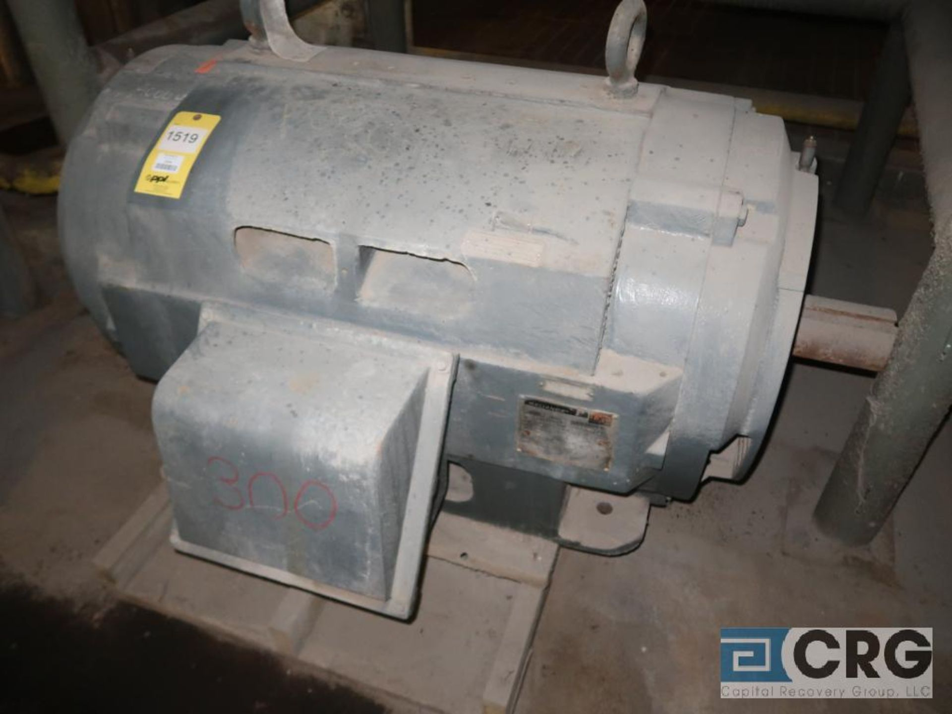Reliance motor, 300 HP, 892 RPM, 2,300 volt, frame 255010Z, equipment #E00428 (496 Dock Area)