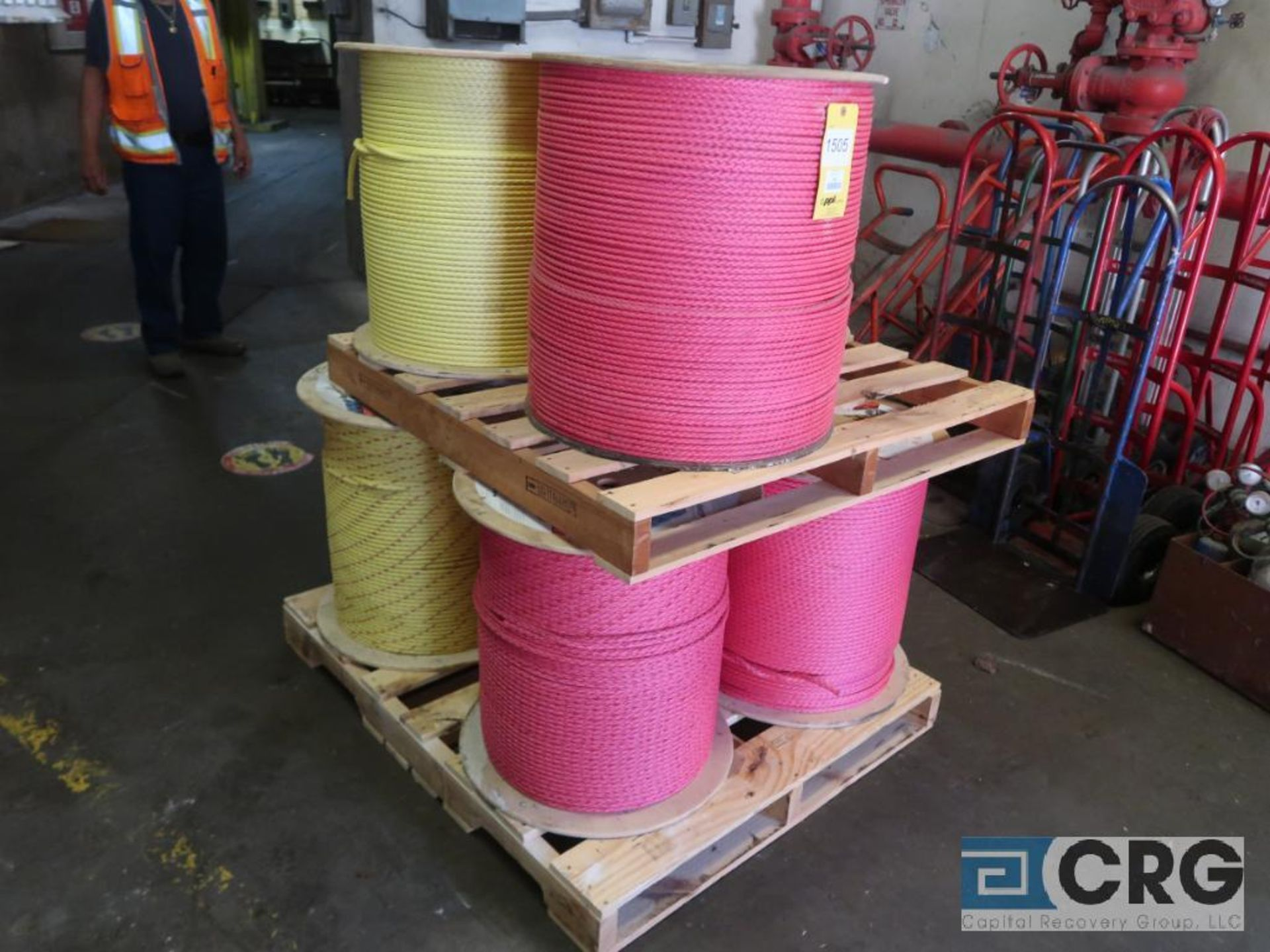 Lot of (7) rolls nylon rope (Stores Area)
