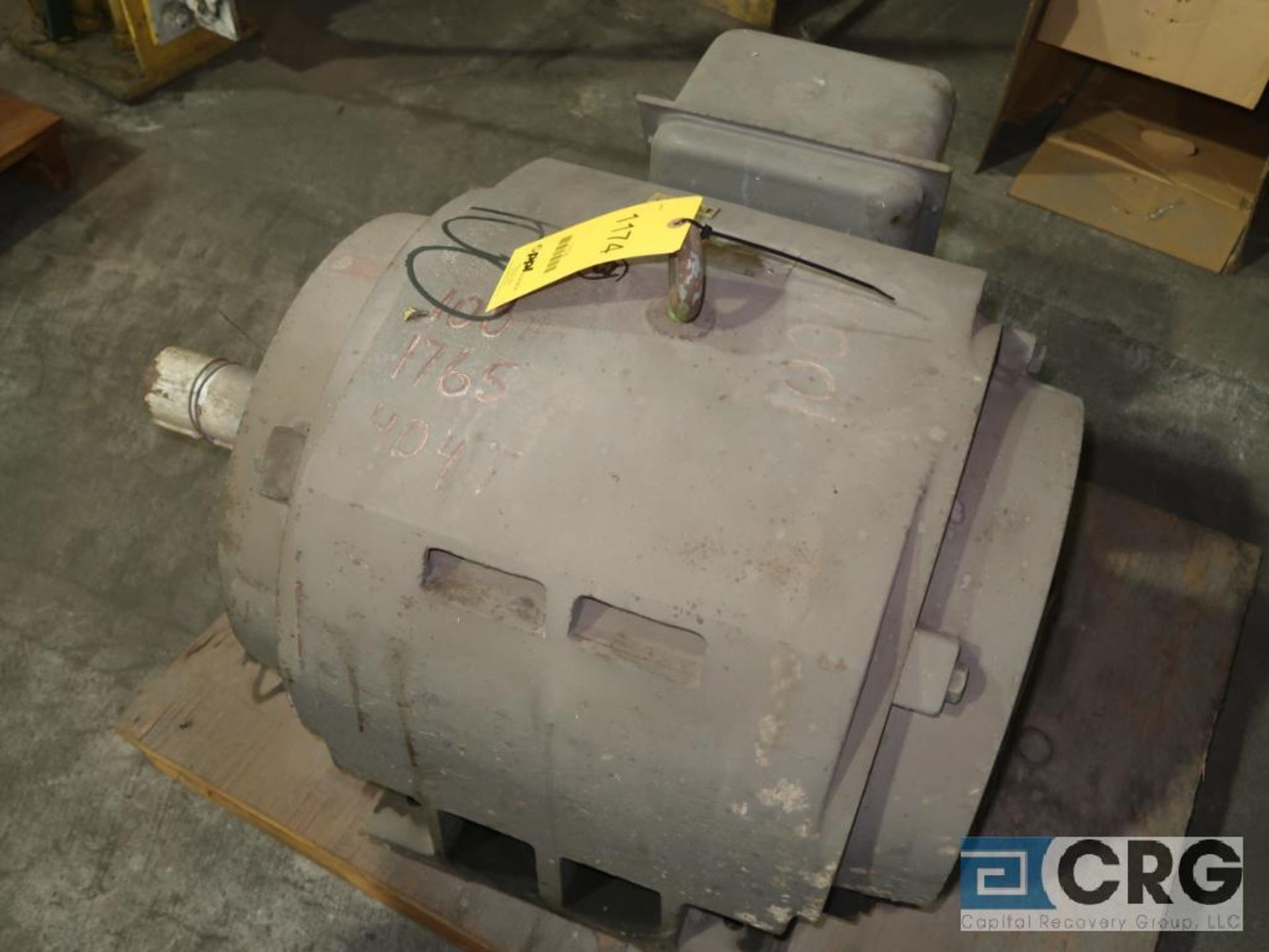Toshiba induction motor, 100 HP, 1,765 RPMs, 230/460 volt, 3 ph., 404T frame (Finish Building)