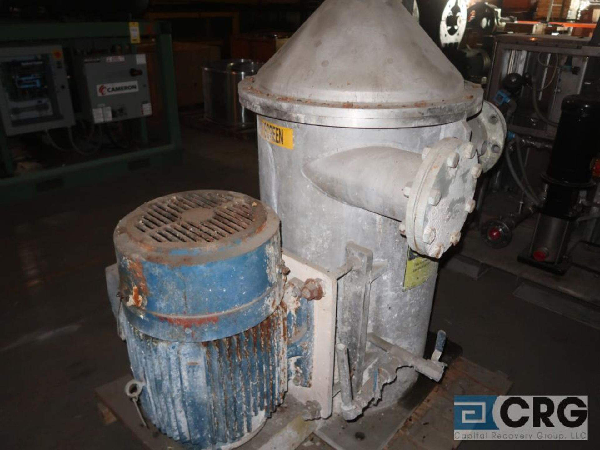 Voith stainless screener with 30 HP motor, size 05VS, dia. 20.00, s/n 2815 (Off Site Warehouse) - Image 2 of 2