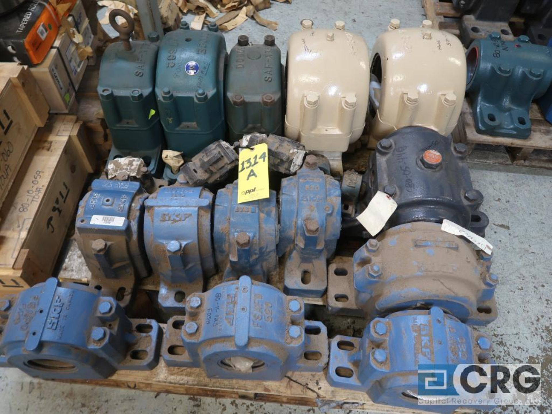 Lot of assorted large bearings and pillow blocks on (6) pallets (Basement Store) - Image 7 of 8
