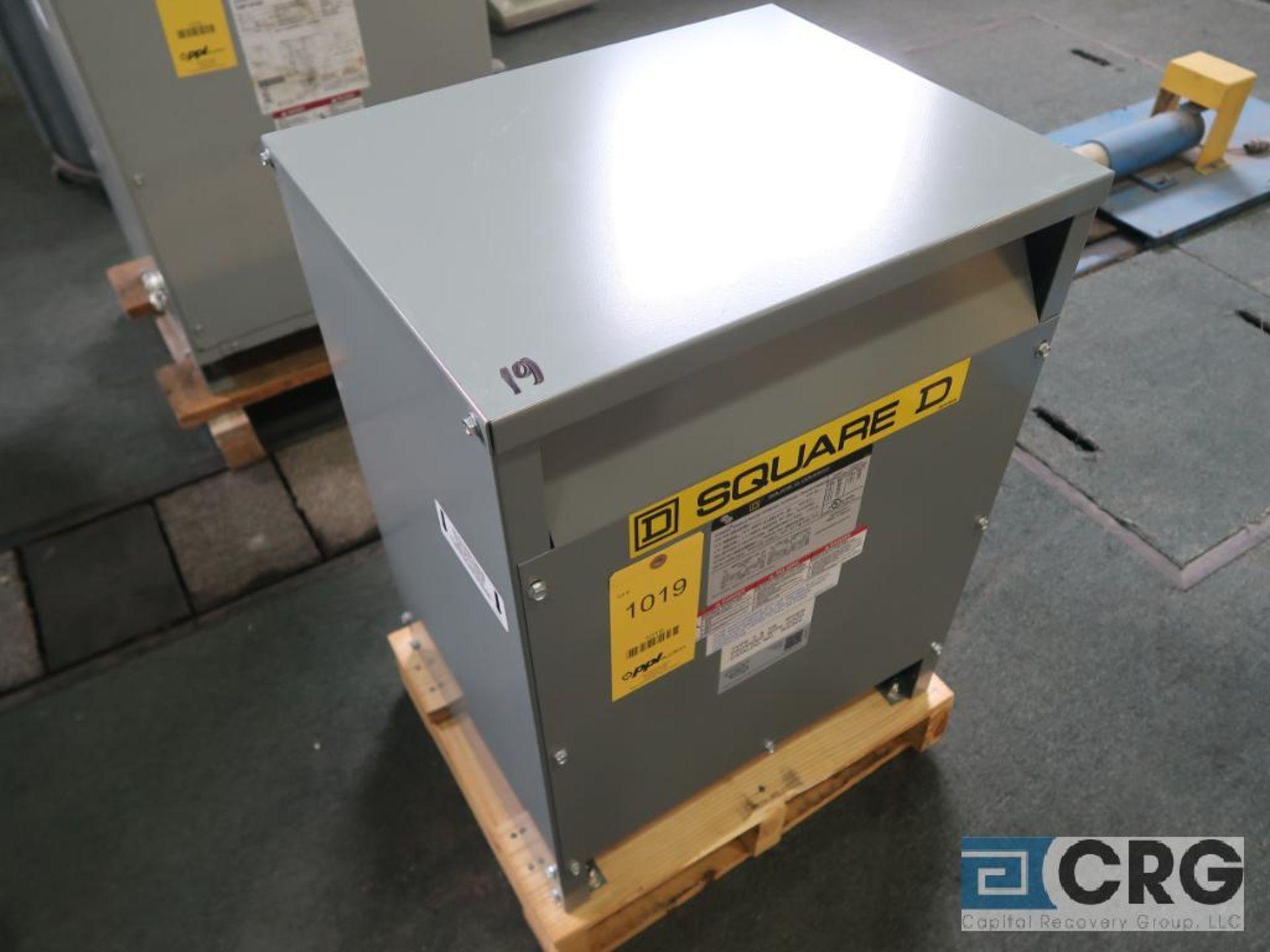 Square D single phase transformer, 15 KVA, 240/480 volt, s/n 18103 (Finish Building)