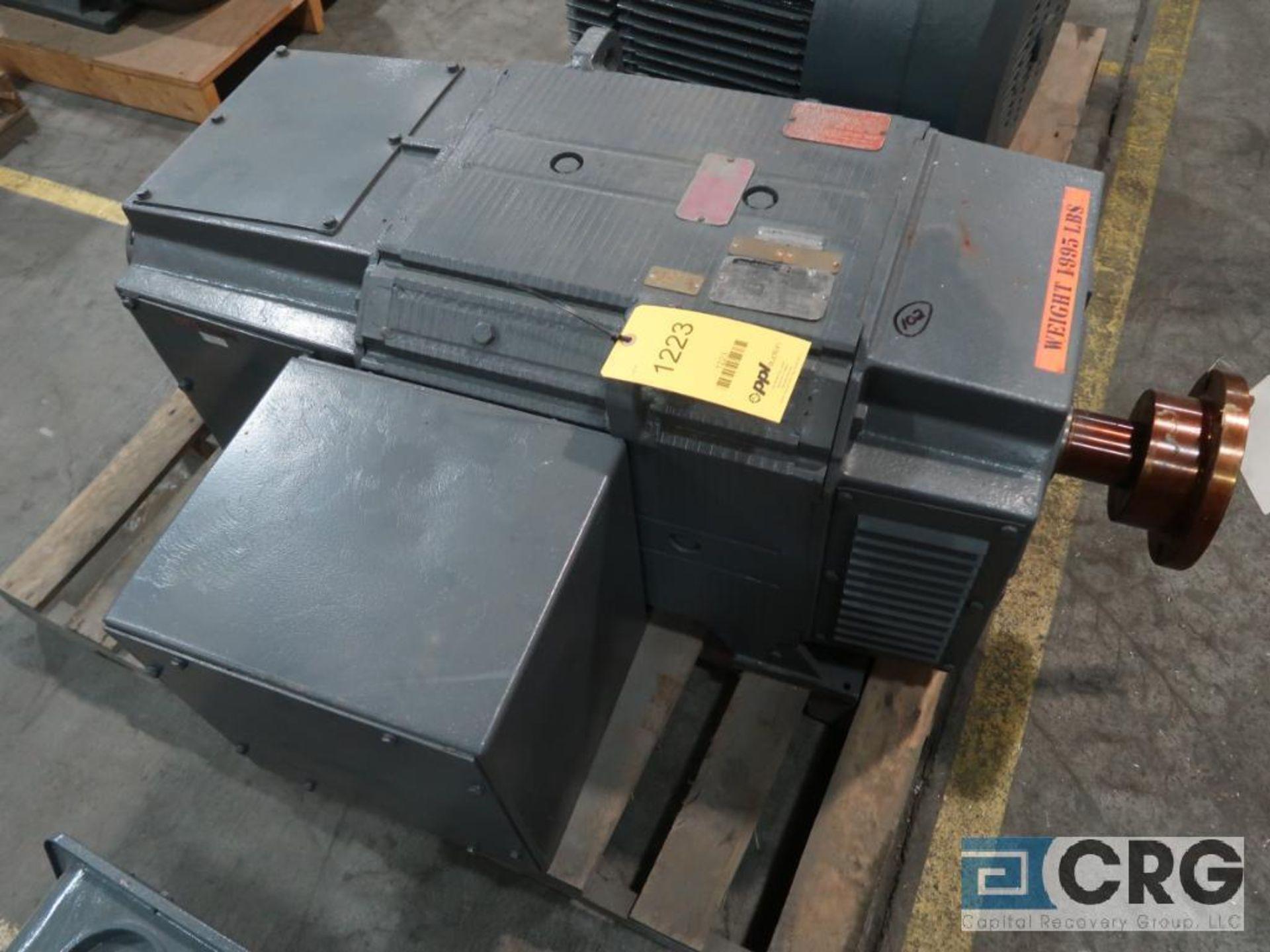 Reliance D-C motor, 50 HP, 500/2,000 RPMs, 500 volt, 3 ph., B0409ATZ frame (Finish Building)
