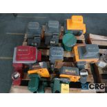 Lot of (8) Maxon shut off actuator valves, (2) 1 1/2 in., (3) 1 in., (2) 3 in., and (1) 4 in. (
