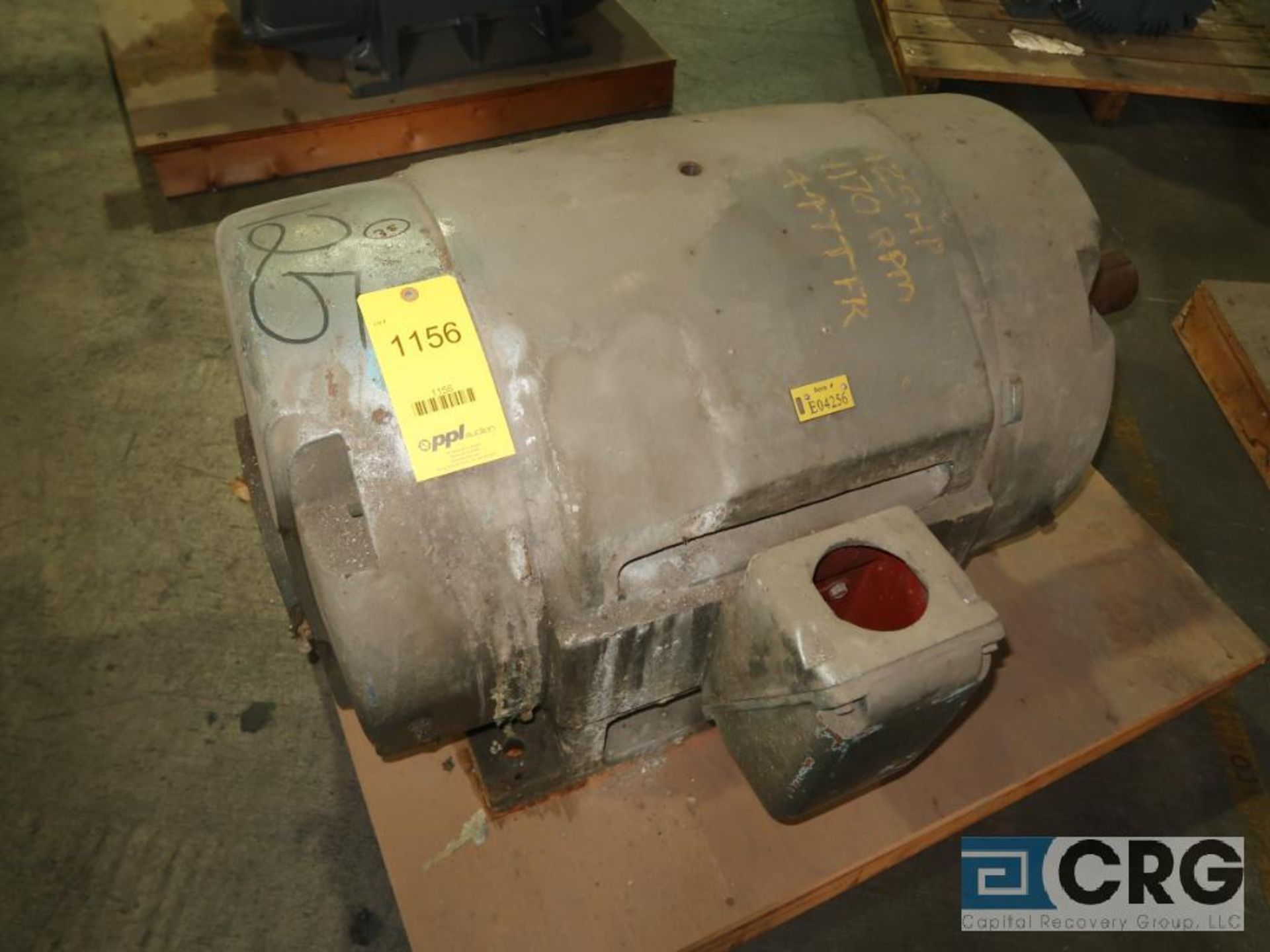 Electric motor, 125 HP, 1,170 RPMs, 447T frame (Finish Building)