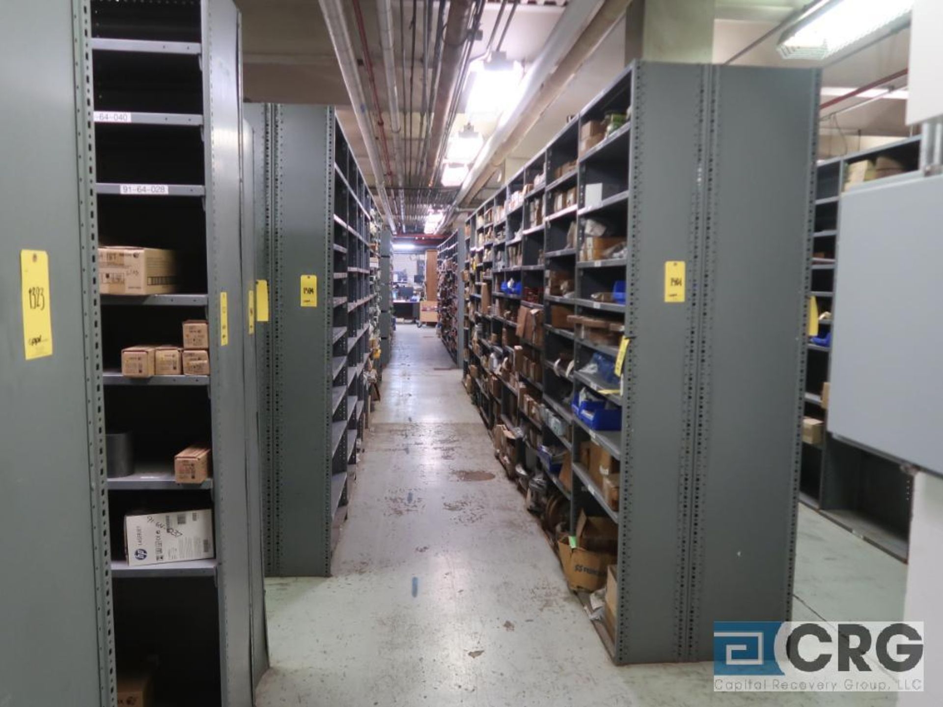 Lot of (135) sections metal shelving (Front of Stores Area)