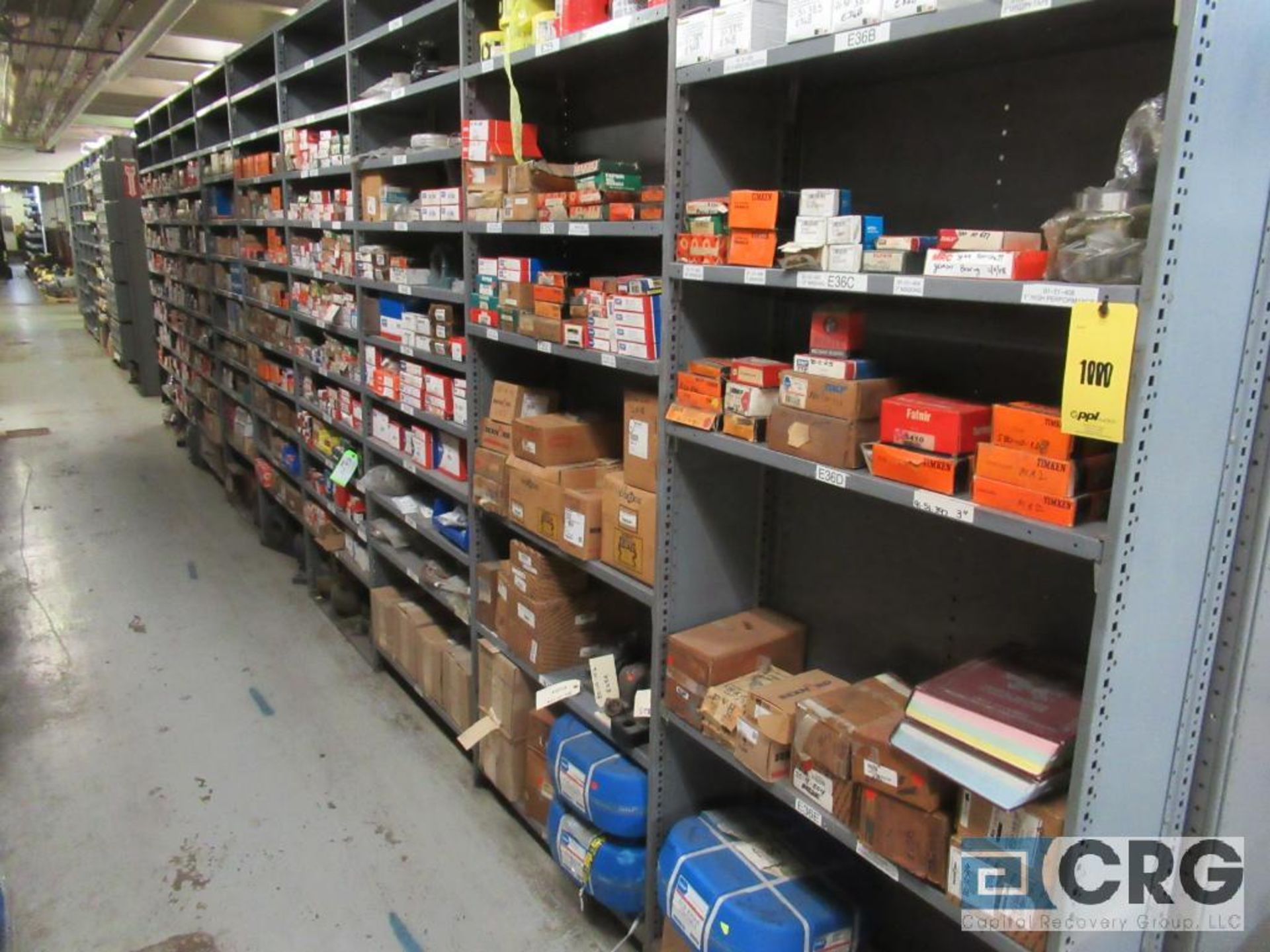 Lot of assorted bearings on (18) sections of metal shelving (located in Basement Store) - Image 2 of 17