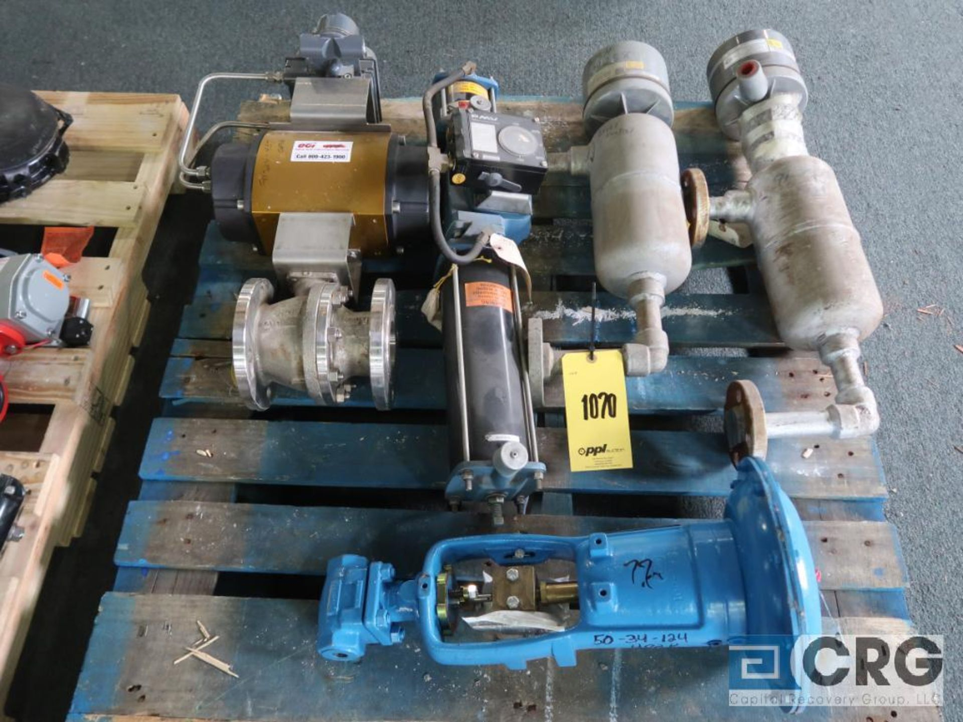 Lot of (12) assorted actuator valves on (2) pallets, (4) butterfly, and (8) ball (Finish Building) - Image 2 of 2