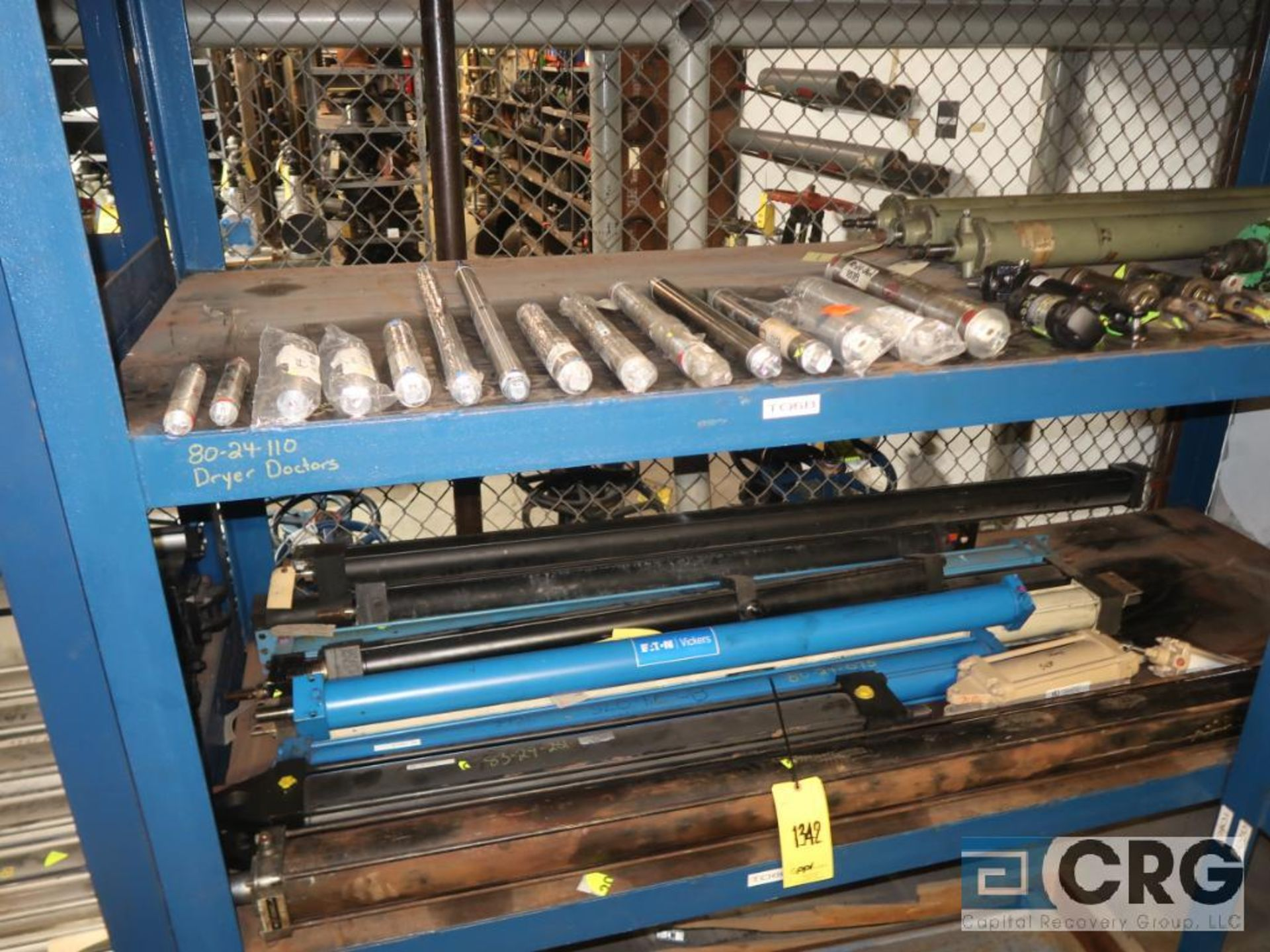 Lot of (8) pallets and (3) sections with assorted pneumatic and hydraulic cylinders (Store - Image 6 of 9
