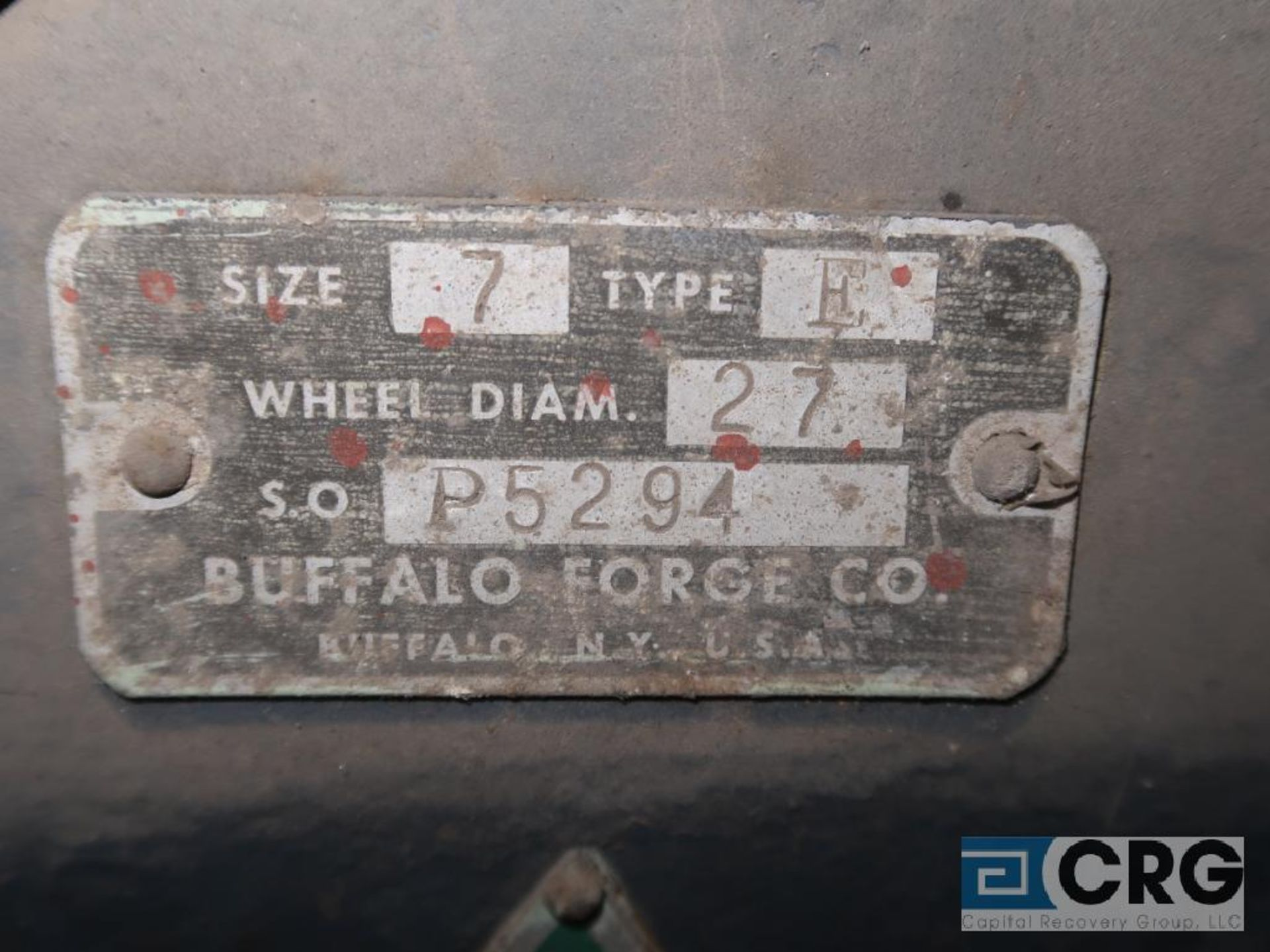 Buffalo H blower unit with 75 HP motor, s/n 5294 (Next Bay Cage Area) - Image 2 of 2