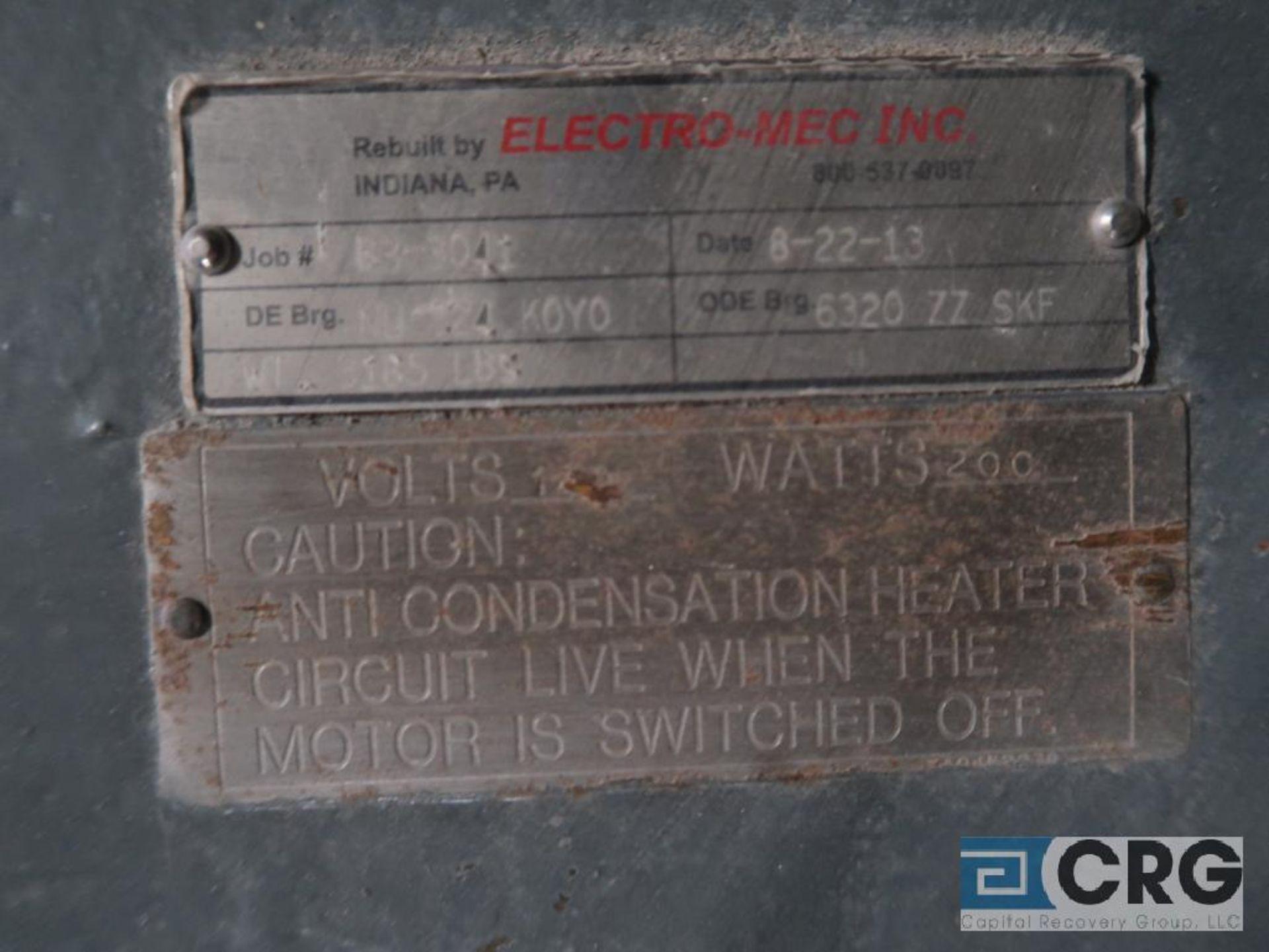 Teco motor, 250 HP 1,170 RPM, 2,300/4,160 volts, equipment #E04776 (496 Dock Area) - Image 2 of 2