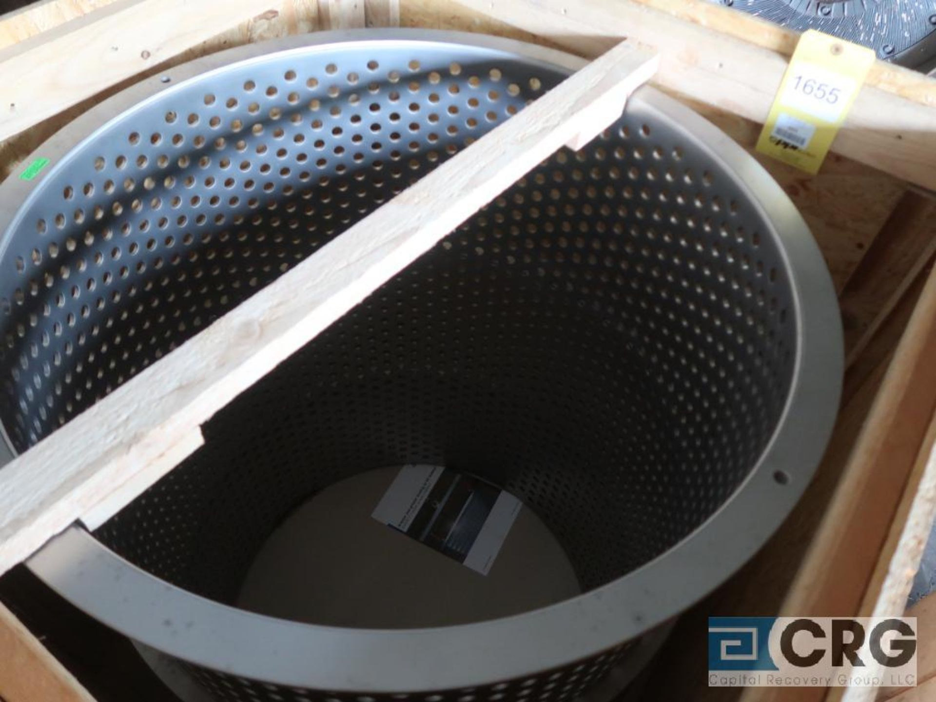 Andritz PSV N400 BW16 stainless basket screen, 42 in. x 32 in. dia., s/n 168972 (Off Site - Image 2 of 3
