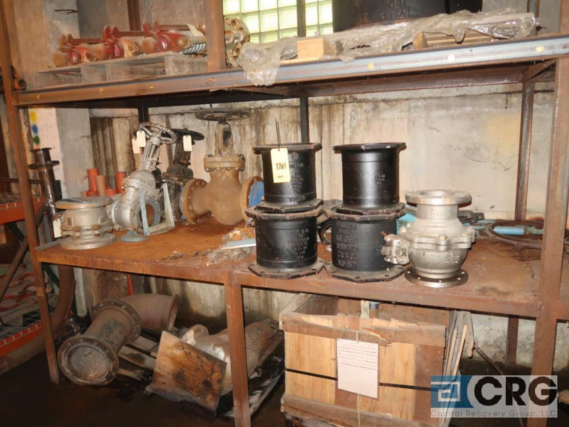 Lot of assorted parts including expansion joint, valves, fan blade, and rotors (Next Bay Cage Area) - Image 14 of 15