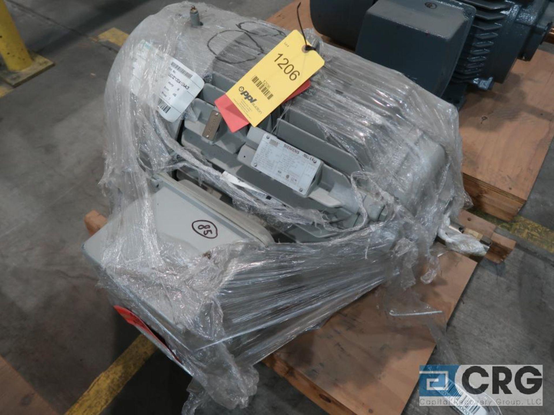 Siemens NEMA Premium Efficiency motor, 60 HP, 3,565 RPMs, 460 volt, 3 ph., 364TS frame (Finish