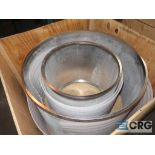 Lot of (2) stainless screen baskets, (1) XCN436500111GNC 24 x 24, and (1) DWG XCN436600350GNC 24 x