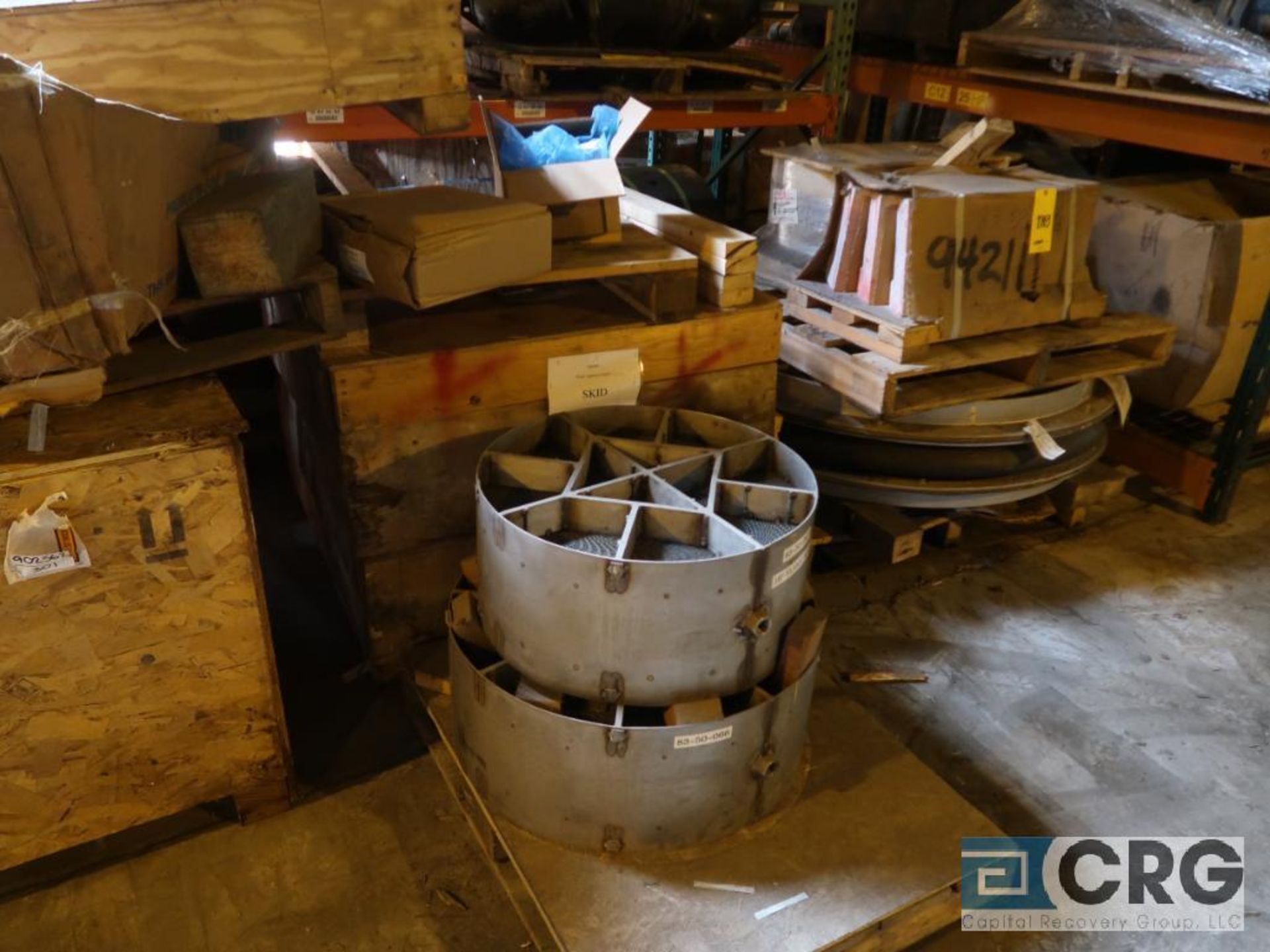 Lot of assorted parts including expansion joint, valves, fan blade, and rotors (Next Bay Cage Area) - Image 6 of 15