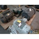 Lot of (4) assorted 40 HP electric motors including (1) Siemens, (2) Allis-Chalmers, and (1)