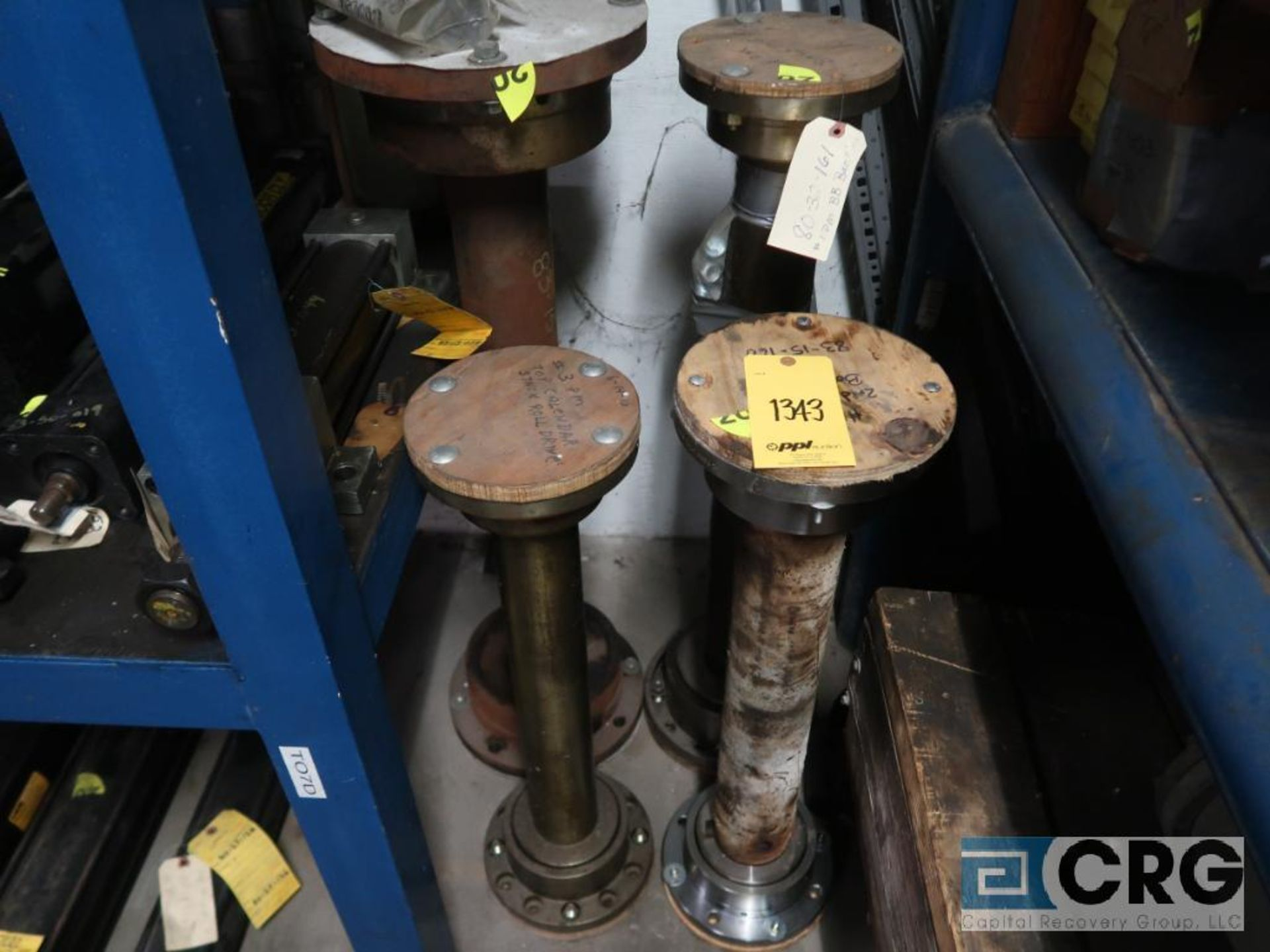 Lot of (4) sections assorted shafts, motor rotors, and ringe gauges (Store Basement) - Image 5 of 7