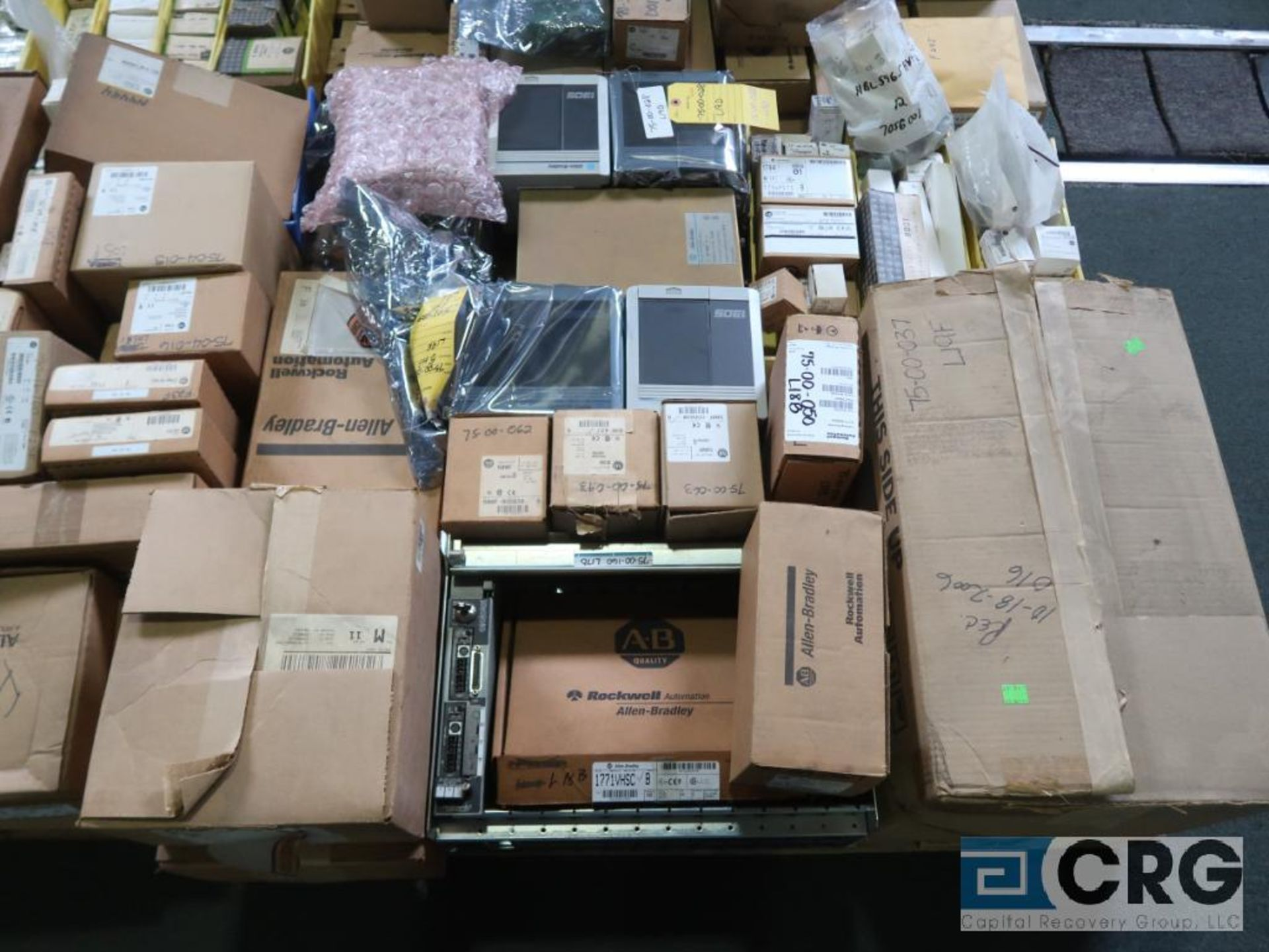 Lot of assorted Allen Bradley electrical automation on (13) pallets including sensors, relays, SLC - Image 2 of 12