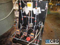Prominent bleach dosing skid with (4) digital programmable peristaltic dosing pumps
