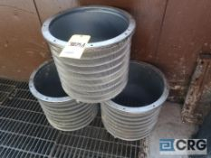Lot of (3) stainless baskets screens, and (1) rotor (Elev 542 Pulp Mill)