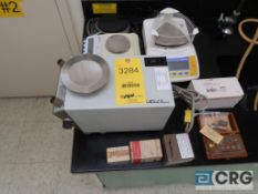 Lot of assorted scales and weights including (4) digital scales, and (5) boxes of weights (Office